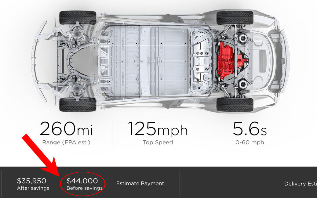 Model 3					Tesla adjusts Model 3 prices amid lowered $3,750 federal tax credit