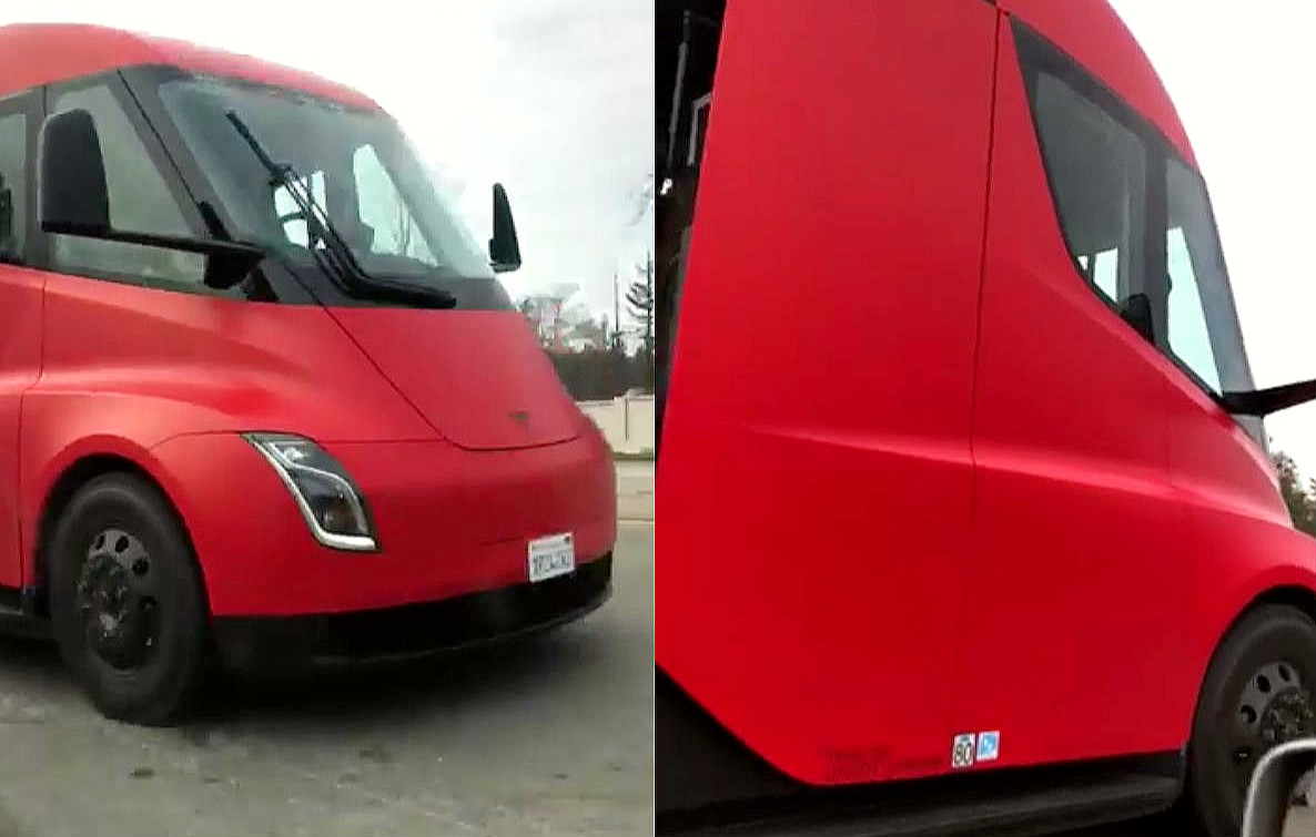 Tesla Semi Draws Eyes With Its Stunning Red Wrap In Recent
