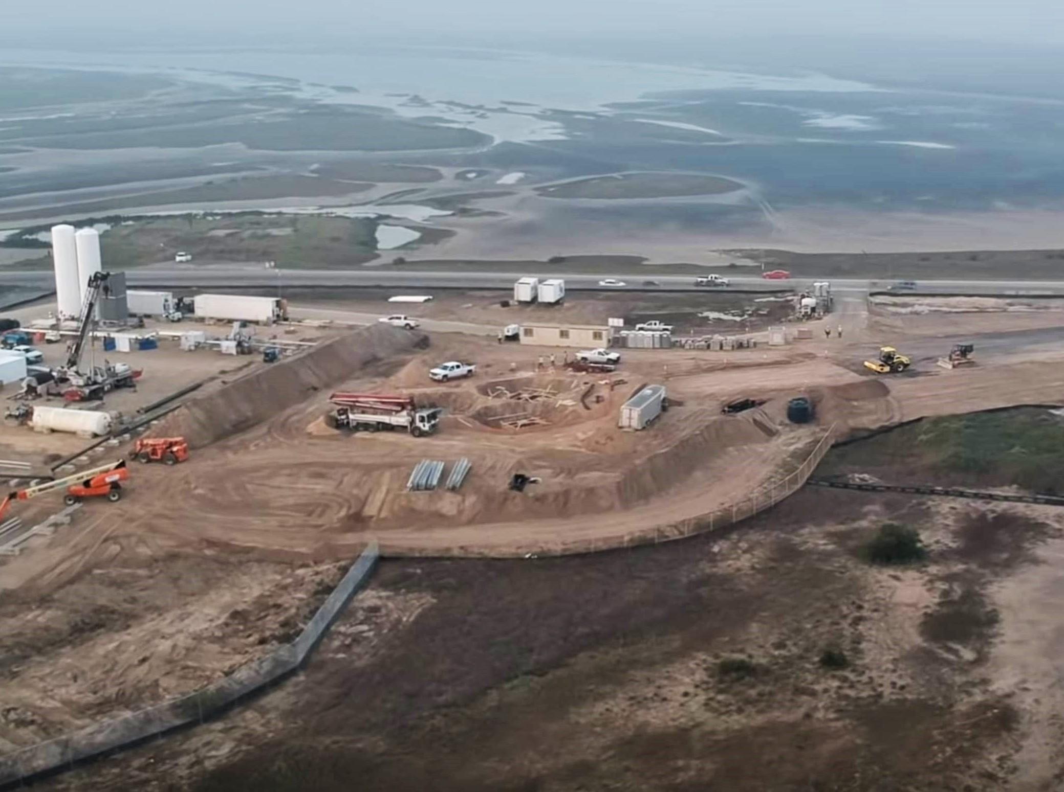 Boca Chica Starship pad progress 020419 (Austin Barnard) 5 crop