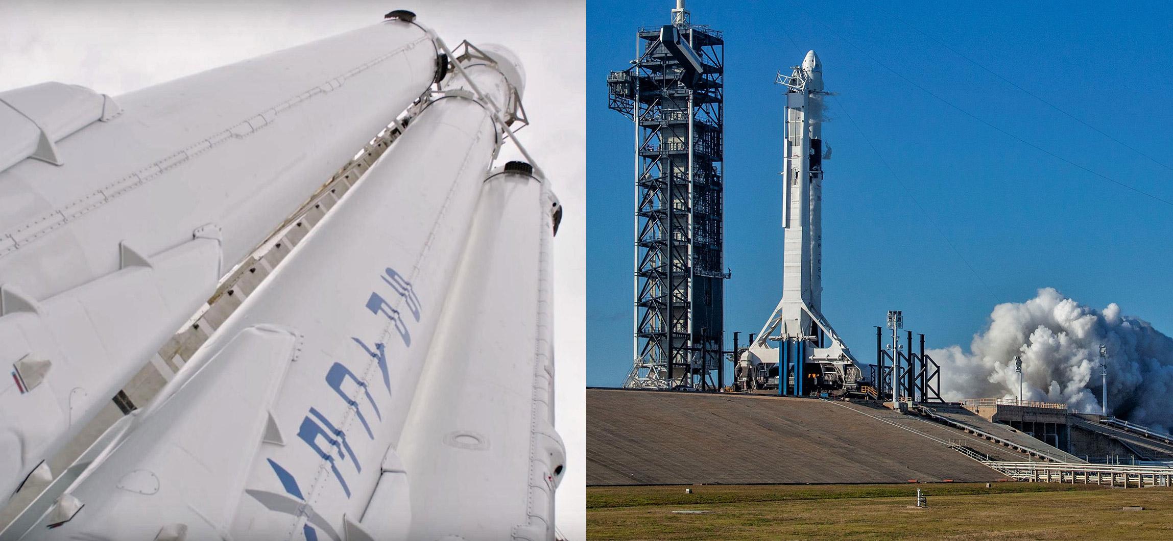 Falcon Heavy vs Crew Dragon (SpaceX)