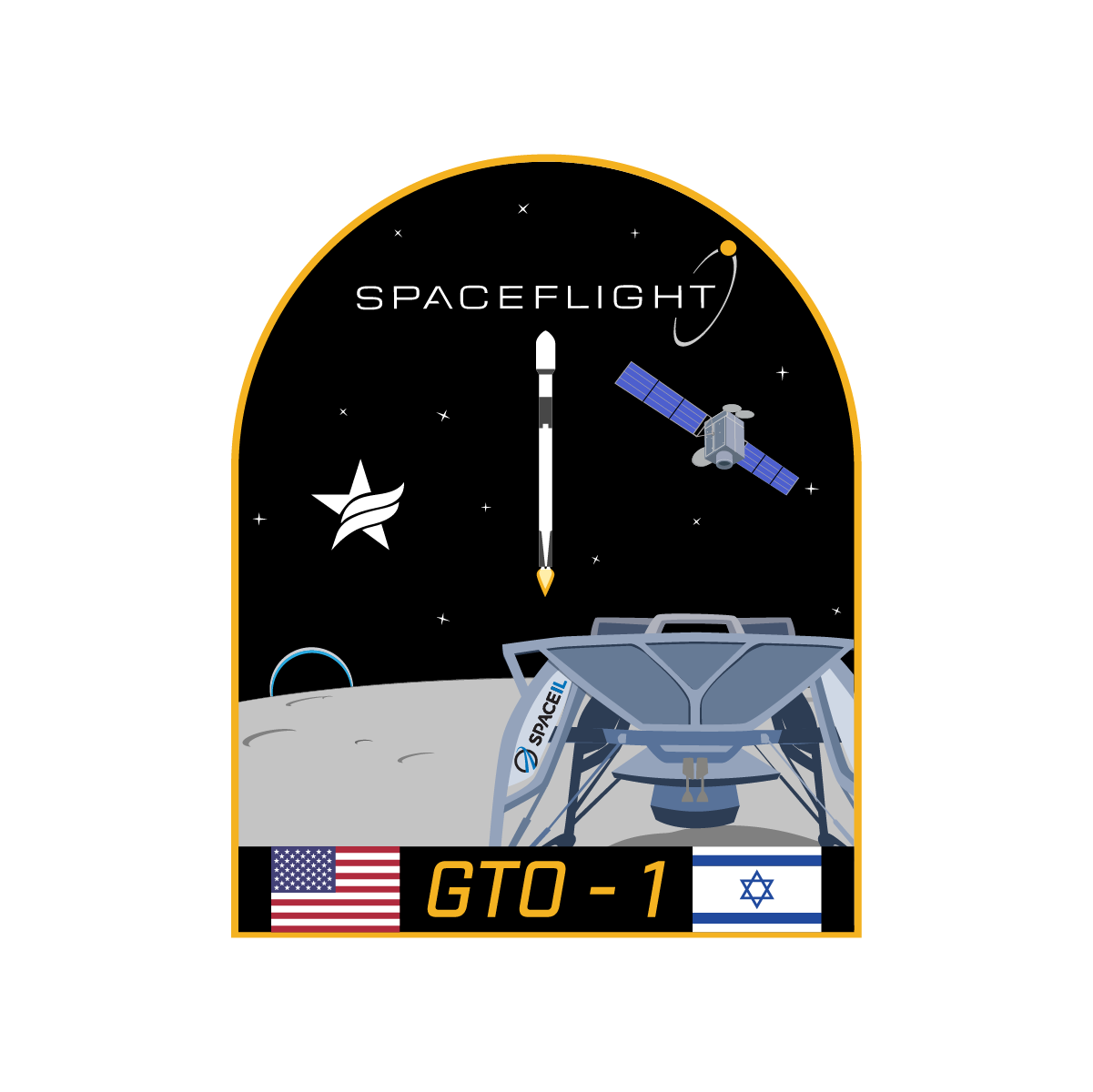 GTO-1 mission patch (Spaceflight)