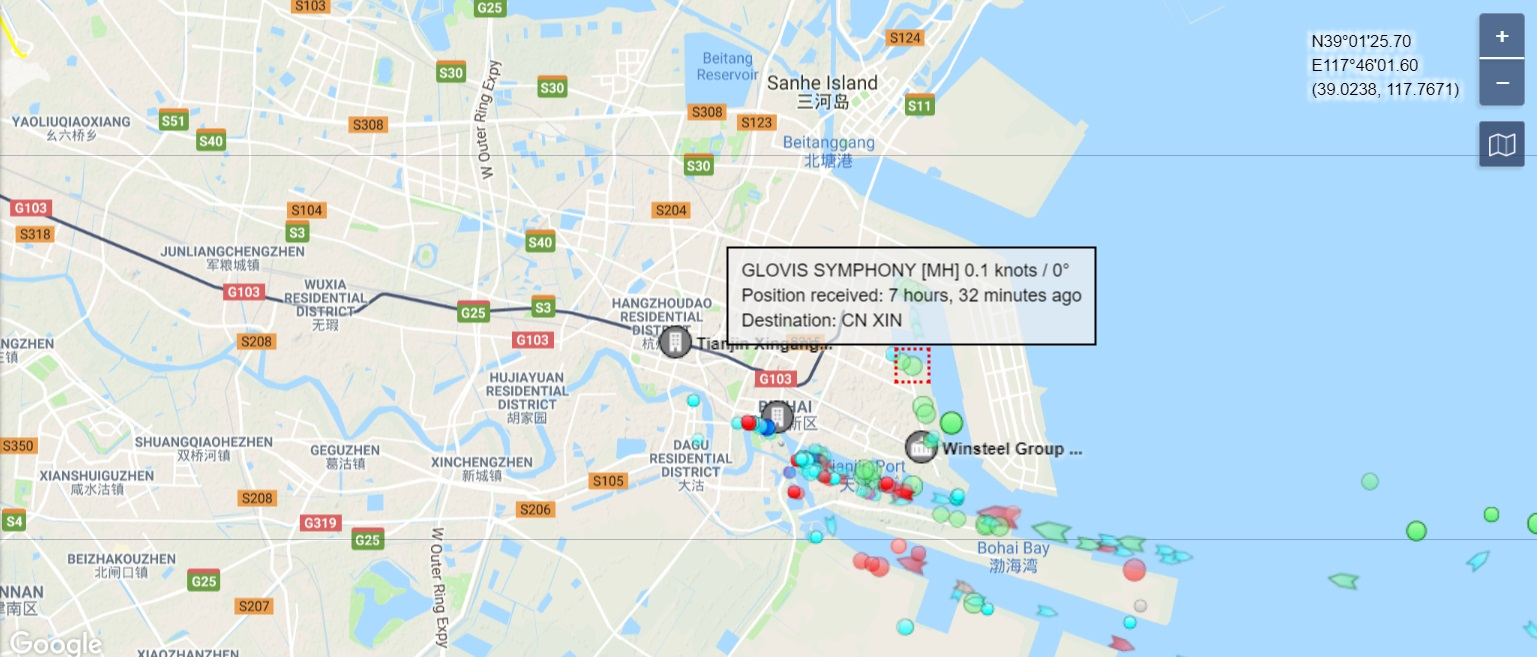 Glovis-Symphony_MarineTraffic_port