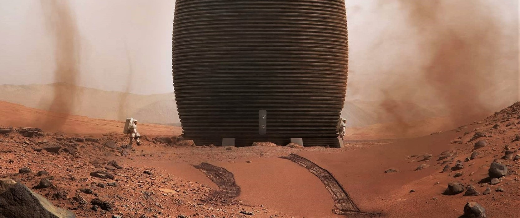 Drag Racing Tires >> 3D-printed Mars habitat could be a perfect fit for early SpaceX Starship colonies