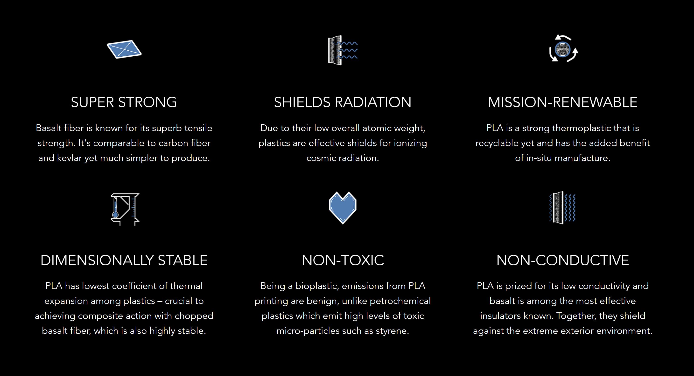 MARSHA print material benefits (AI SpaceFactory)