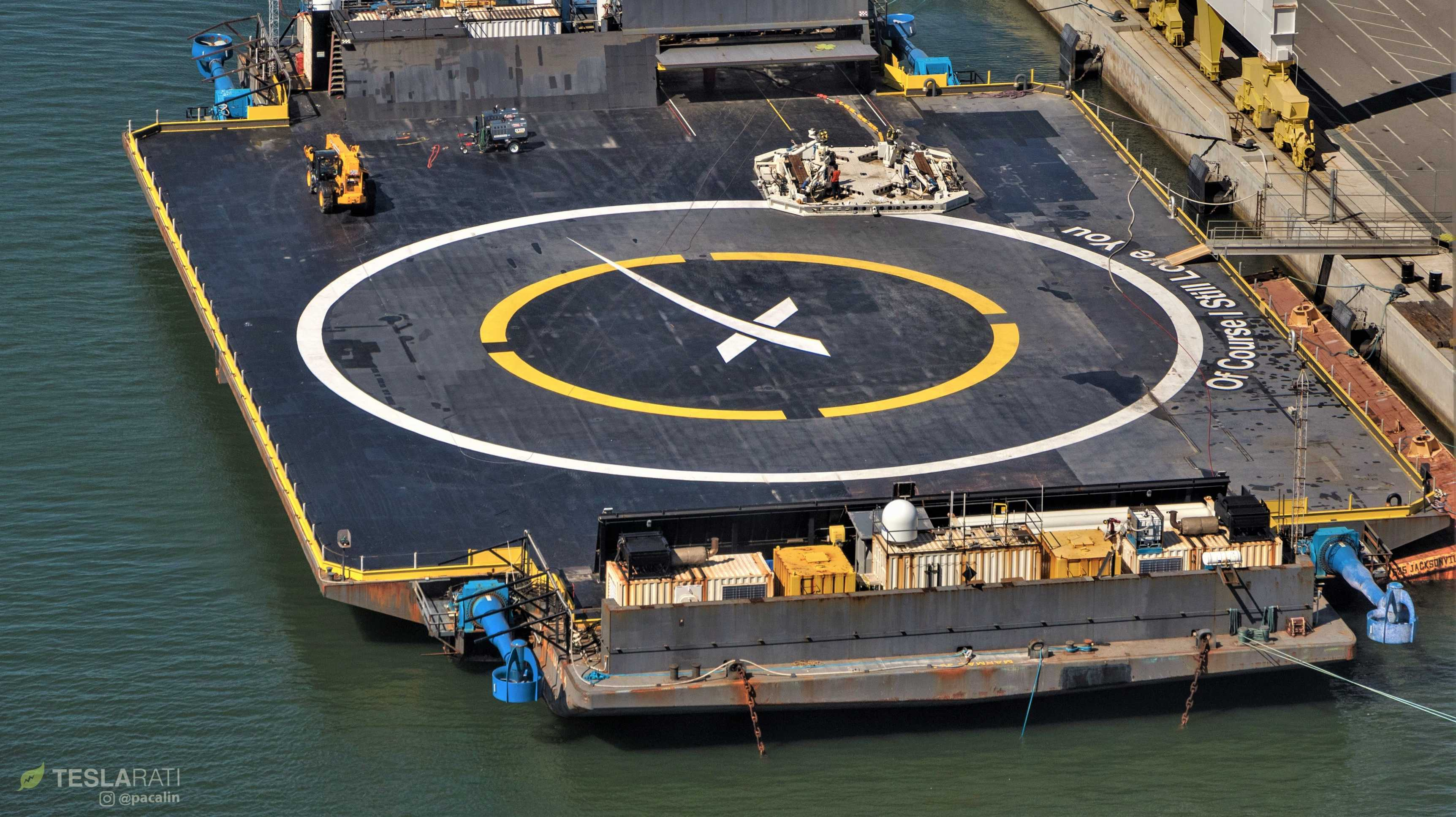 SpaceX's Falcon 9 recovery robot prepares for imminent