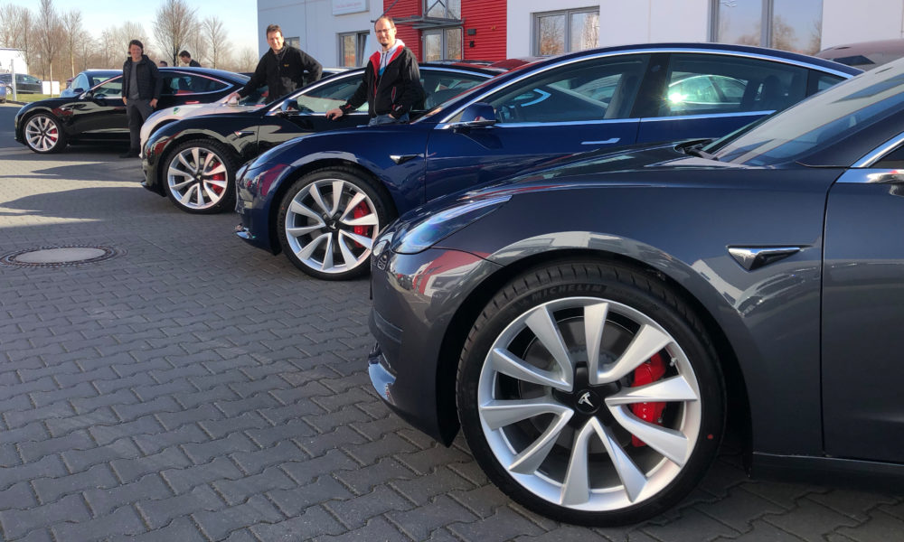 Tesla delivers first four of 100 Model 3 orders to German EV rental company