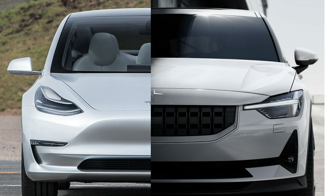 tesla model 3 vs polestar 2 performance features batteries and price. Black Bedroom Furniture Sets. Home Design Ideas