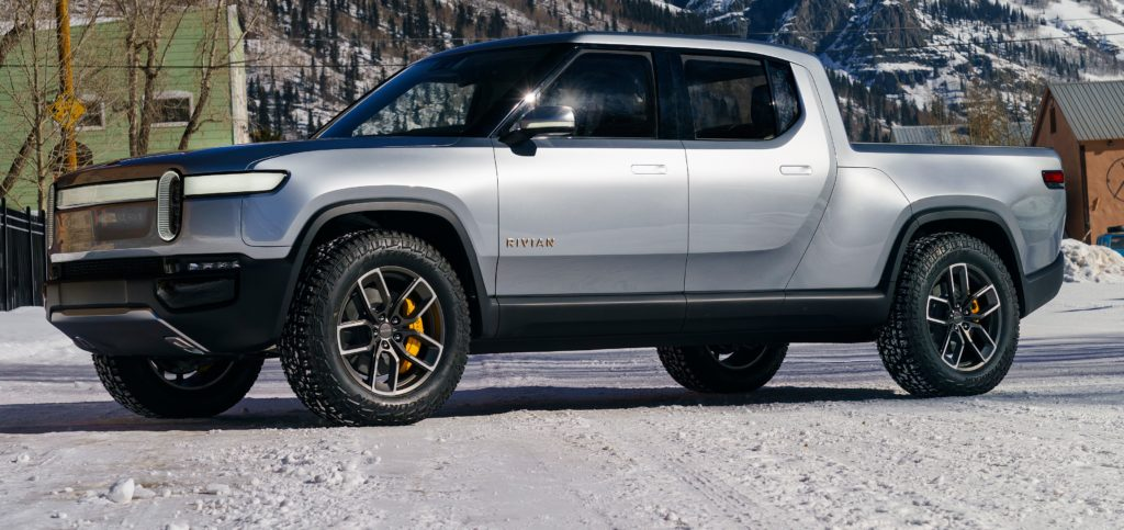 Rivian Patent Reveals R1t Auxiliary Battery That Pushes