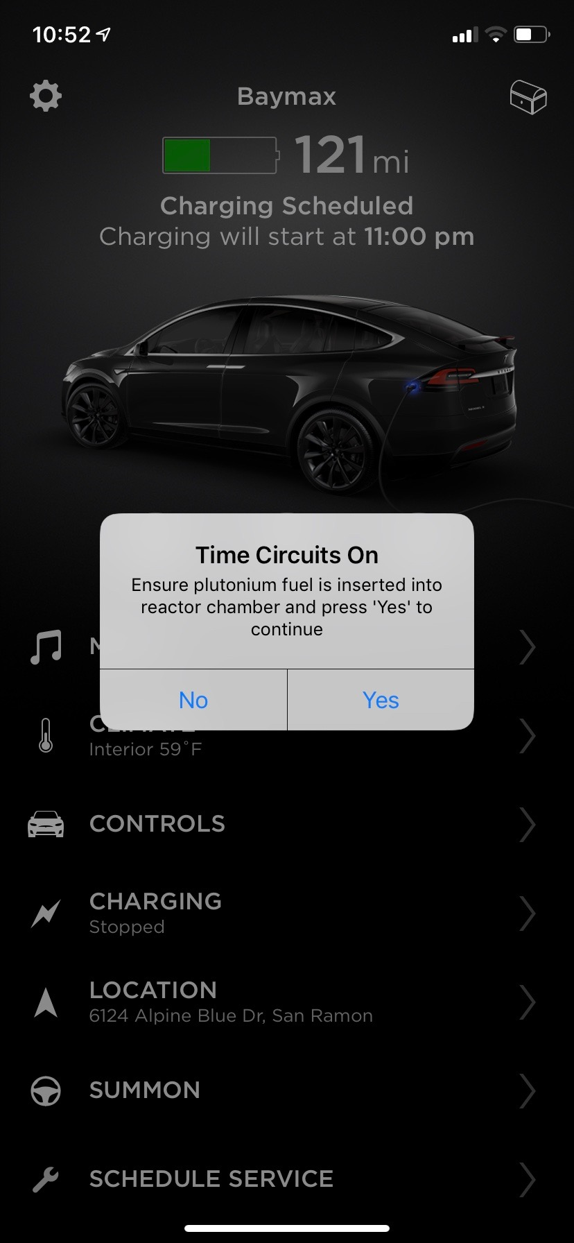 tesla-app-back-to-the-future-easter-egg