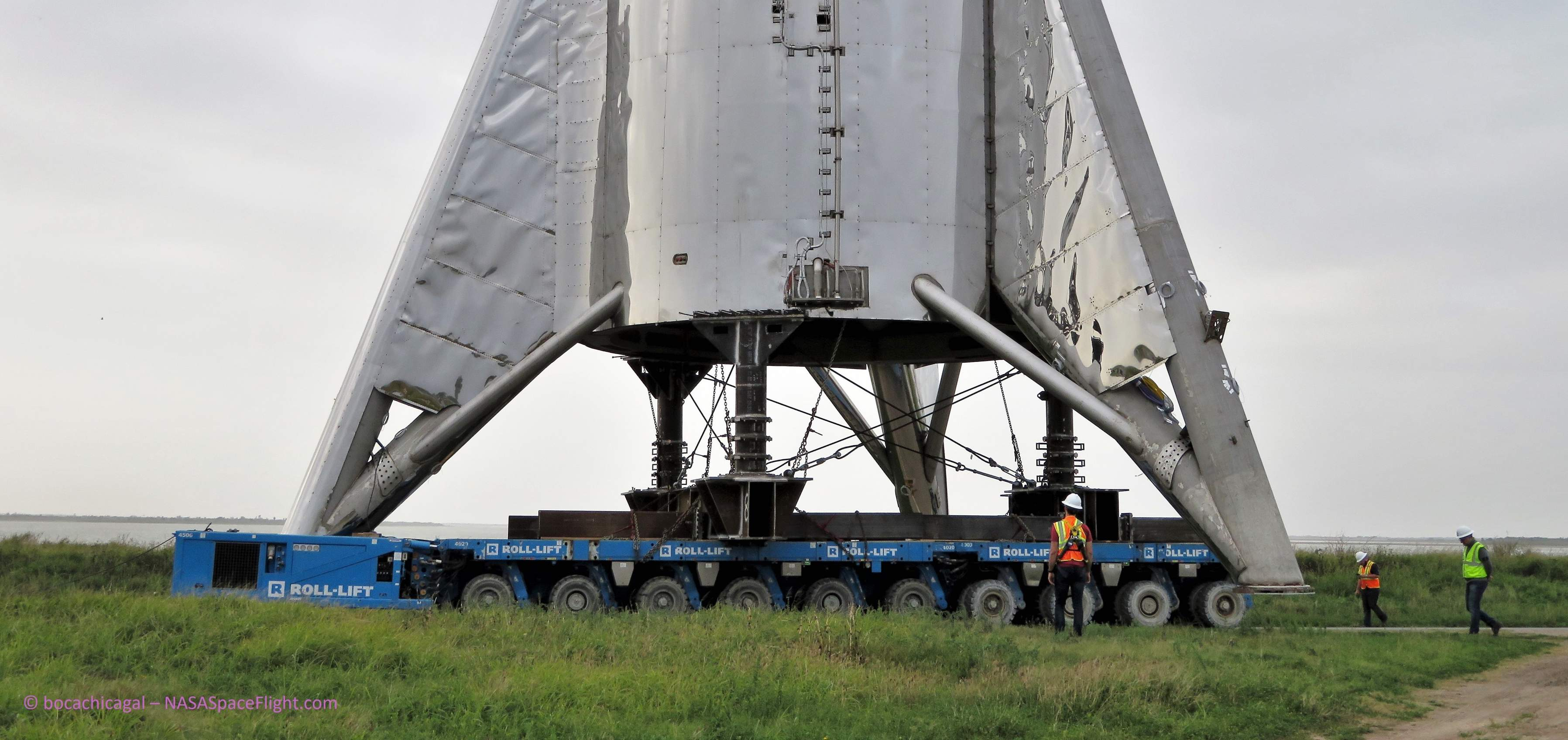 Spacex S Starship Prototype Moved To Launch Pad On New