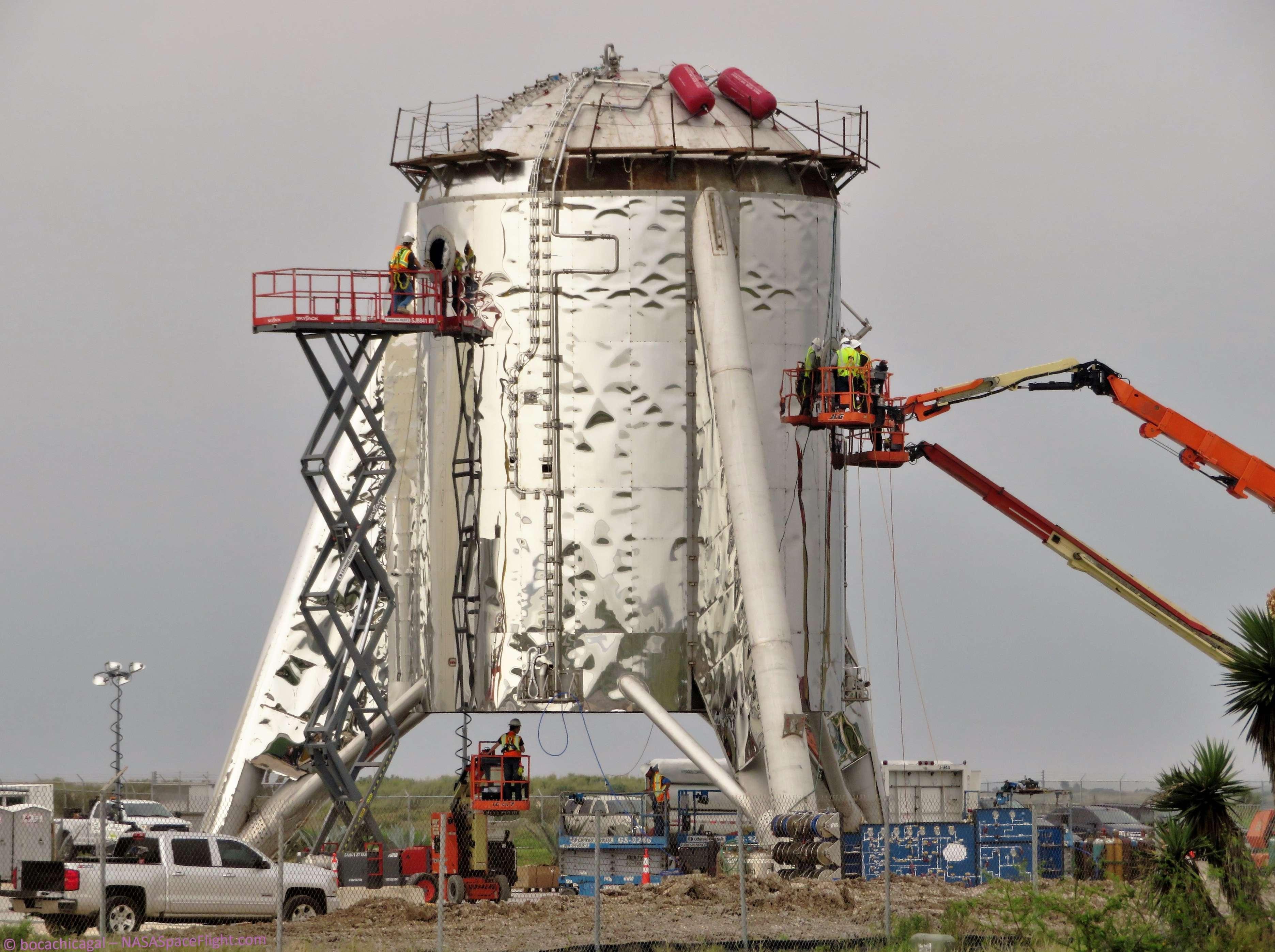 Boca Chica Starship progress 022819 (NASASpaceflight – bocachicagal) 1 (c)