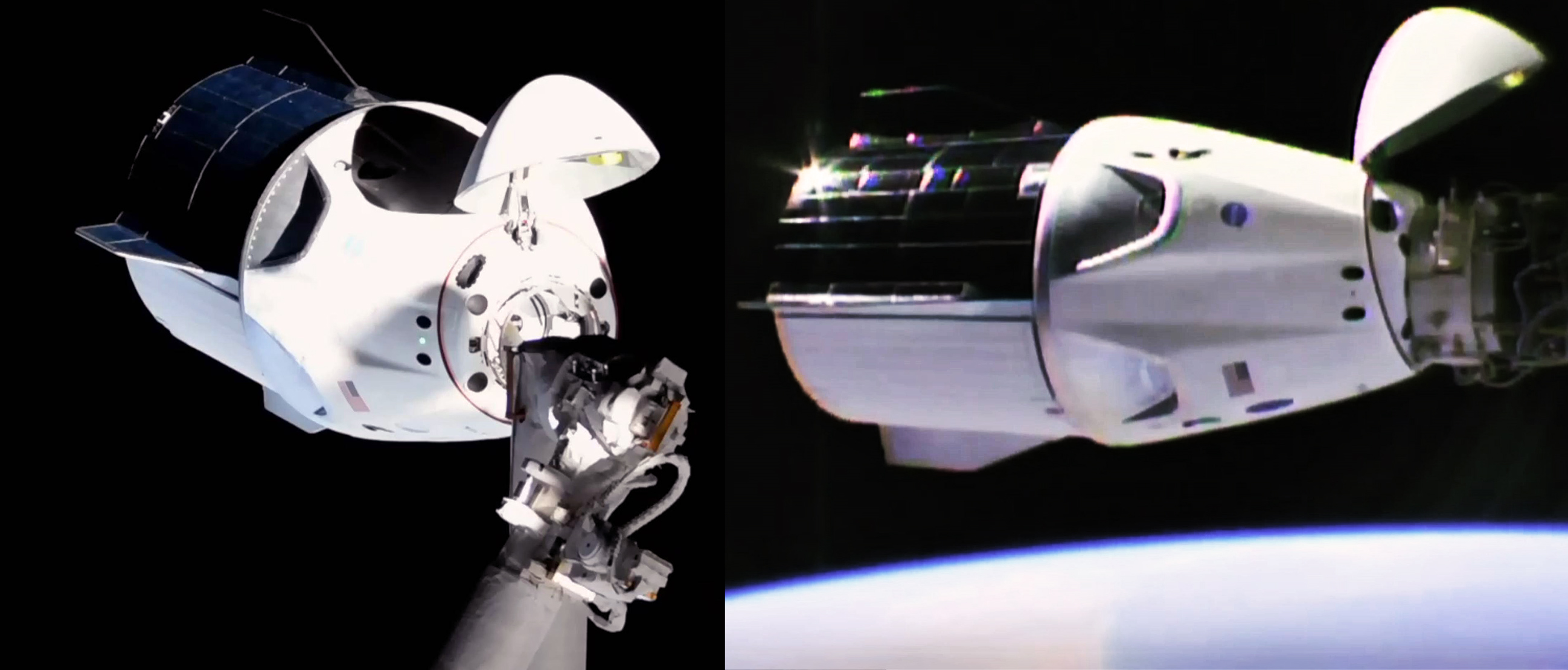 SpaceX's Crew Dragon flawlessly docks with space station ...