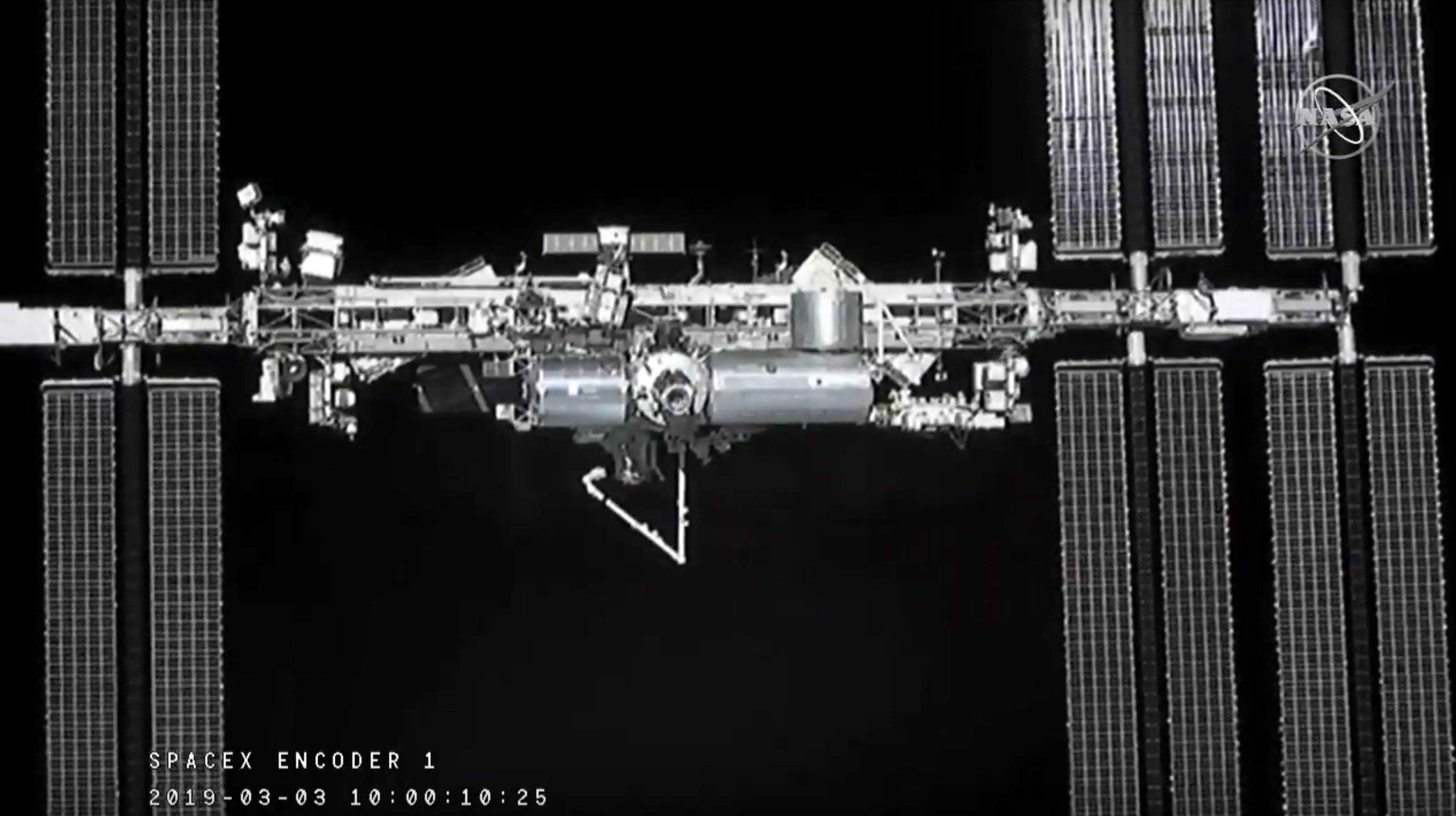 Crew Dragon DM-1 ISS arrival 030319 (SpaceX) 4