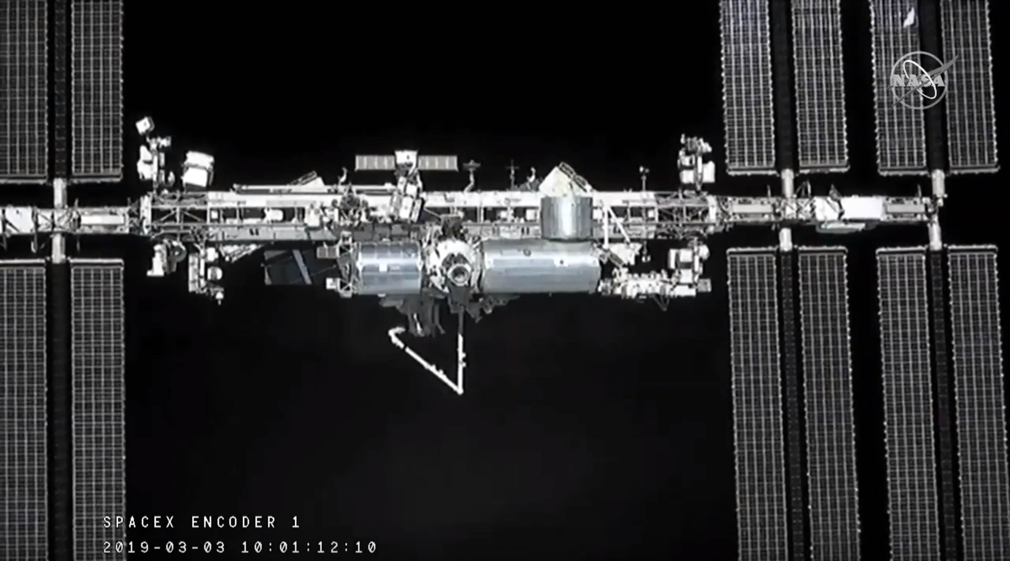 Crew Dragon DM-1 ISS arrival 030319 (SpaceX) 5