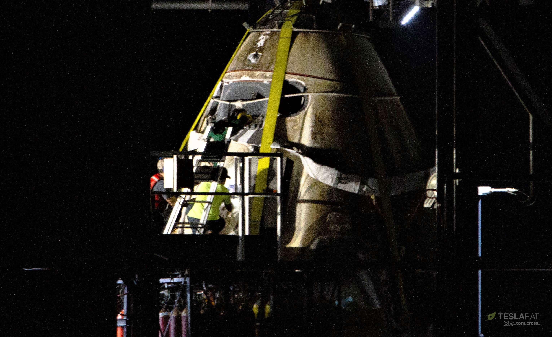 Crew Dragon DM-1 capsule port return 031019 (Tom Cross) detail 1 edit (c) 1