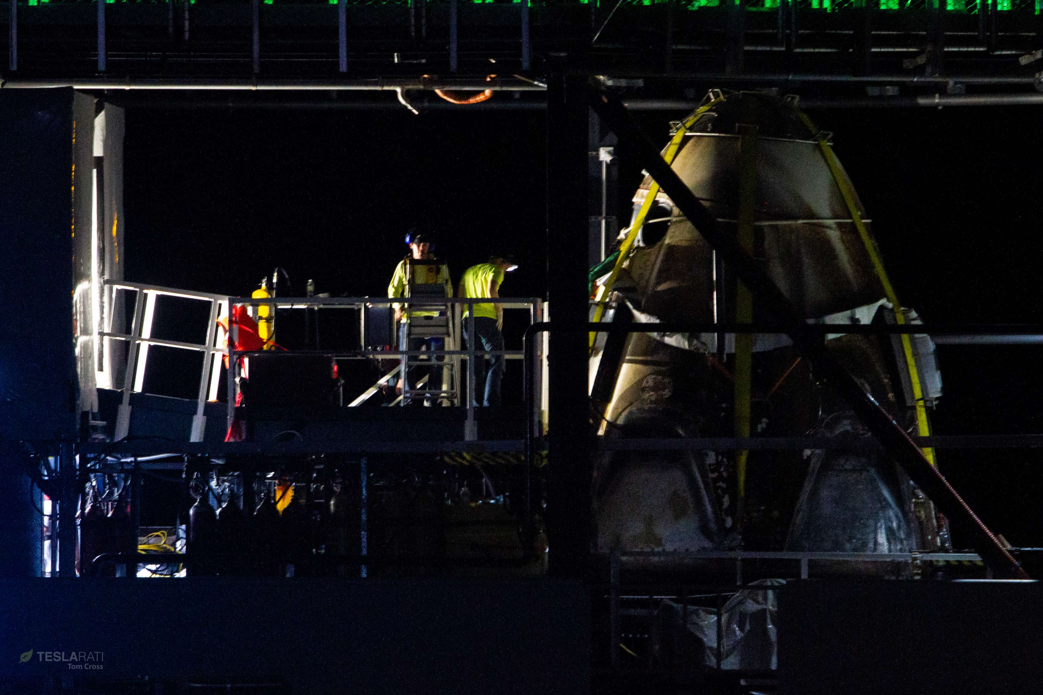 Crew Dragon DM-1 capsule port return 031019 (Tom Cross) detail 5 (c)