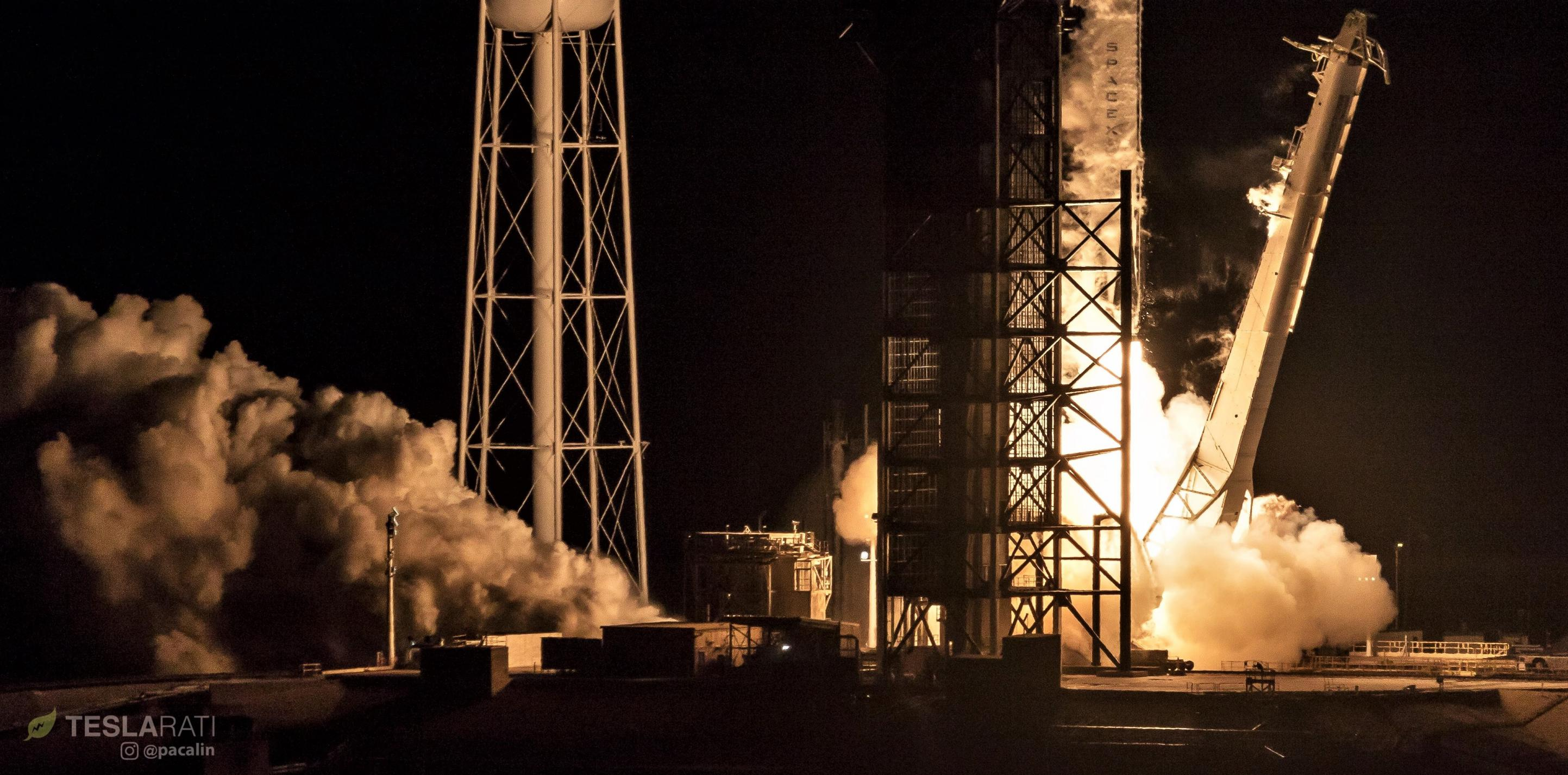 Crew Dragon Falcon 9 B1051 DM-1 liftoff 030219 (Pauline Acalin) 1 crop (c)