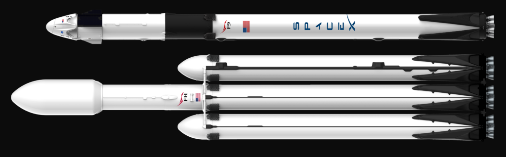 SpaceX hangar packed with Falcon Heavy boosters for early April launch debut