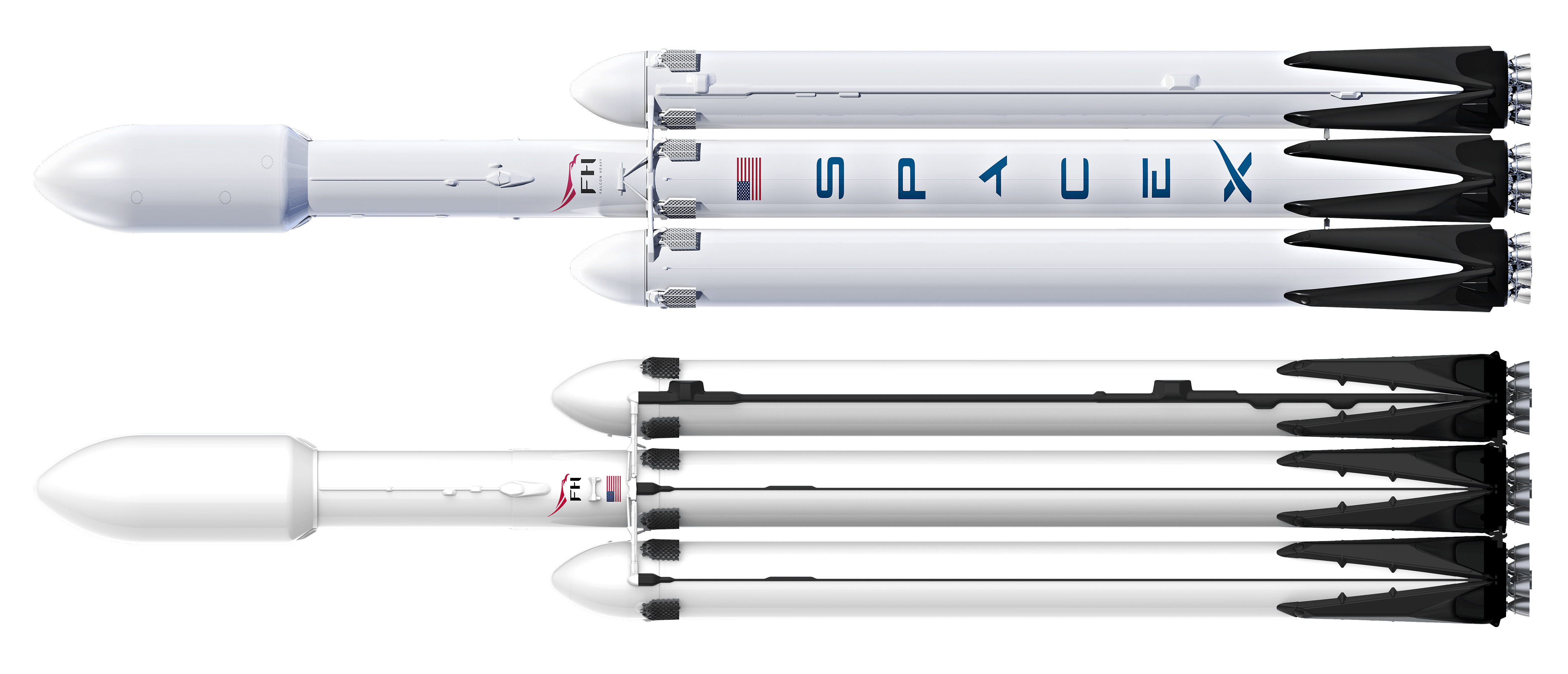 Falcon Heavy Block 2-4 and Block 5 (SpaceX) 1