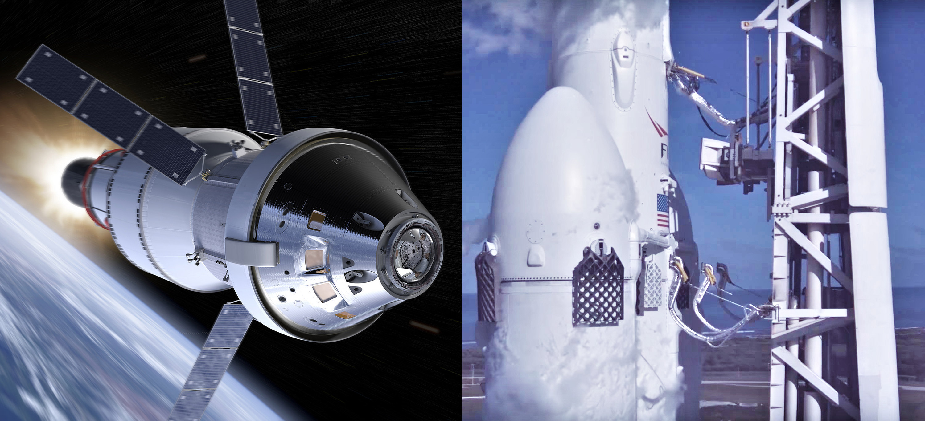 Falcon Heavy and Orion (SpaceX – NASA) 1