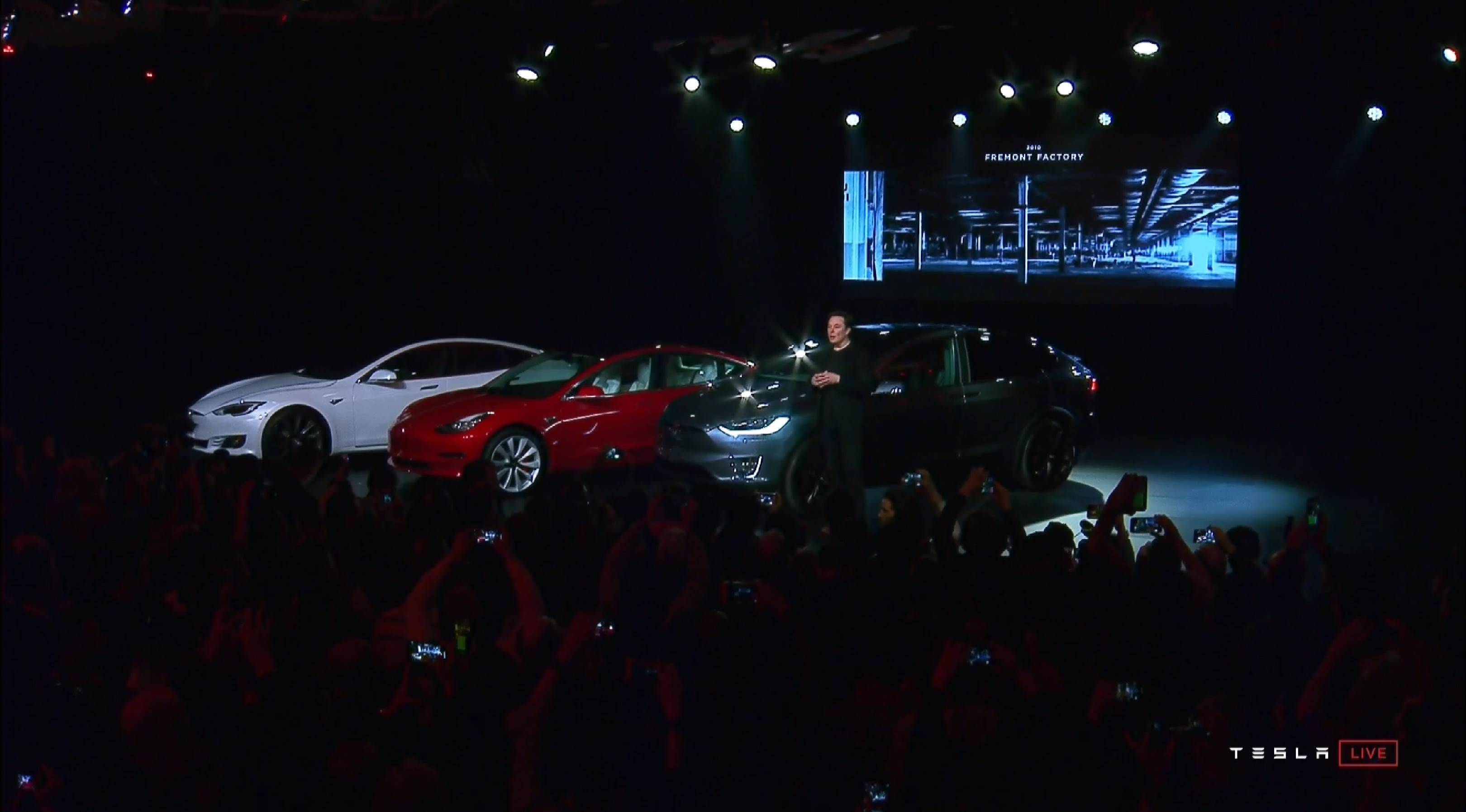 Model Y event Elon Musk and Model S 3 X (Tesla) 1