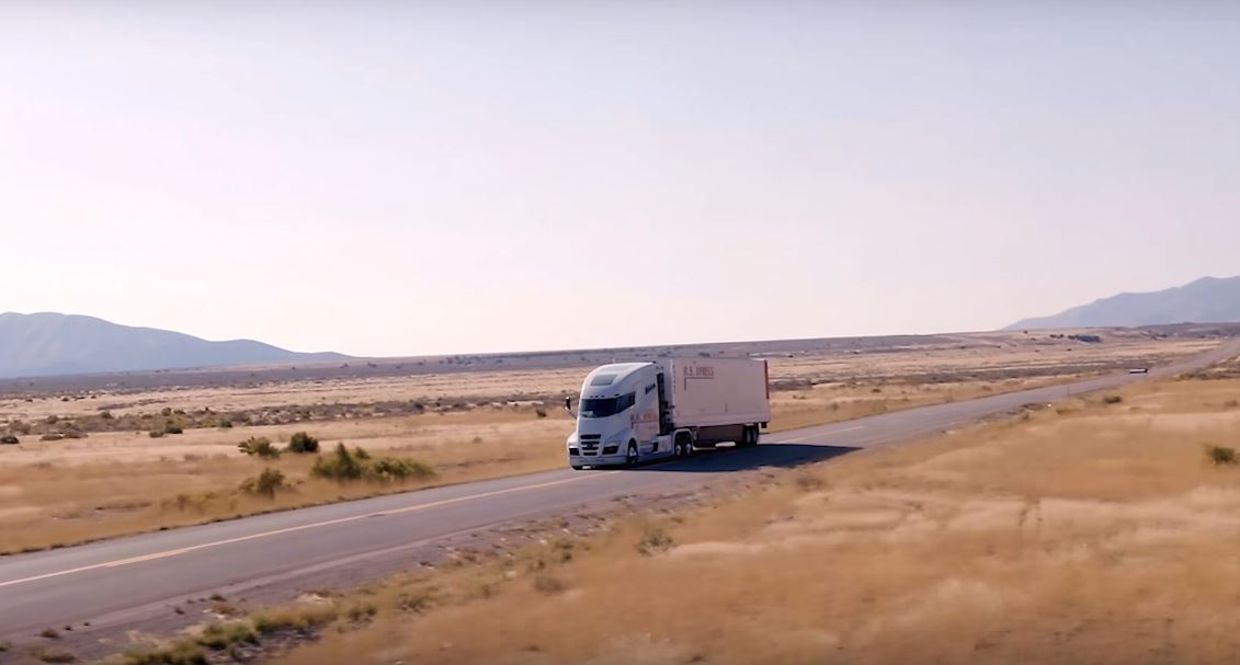 Nikola-one_truck_driving