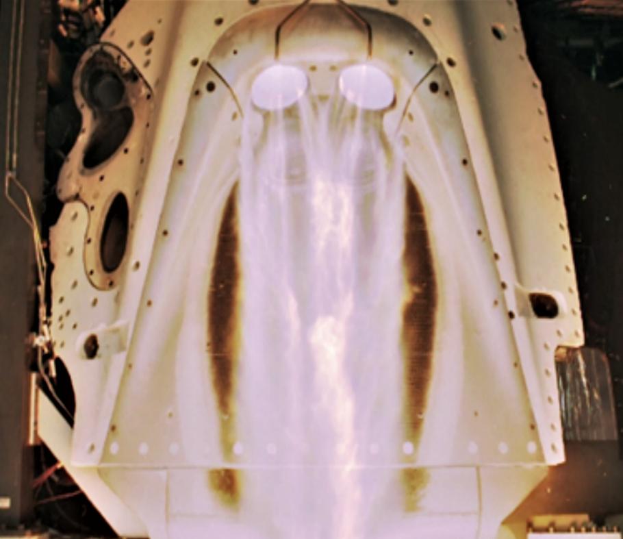 Pad Abort Crew Dragon draco testing (SpaceX0