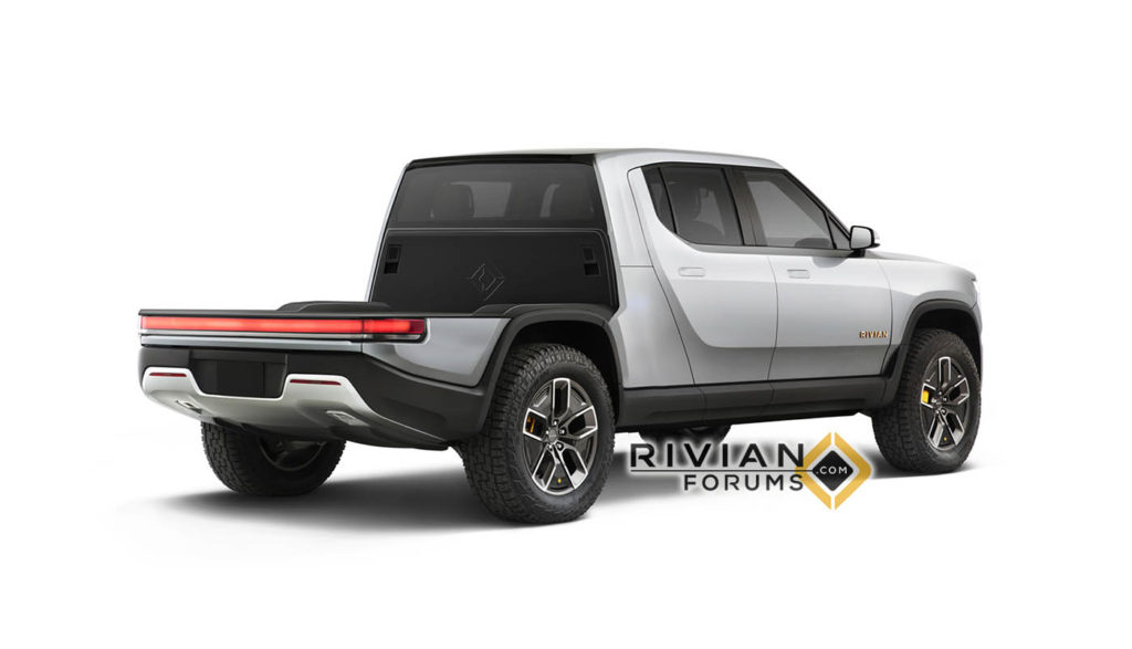 Rivian swappable components come to life in new renderings