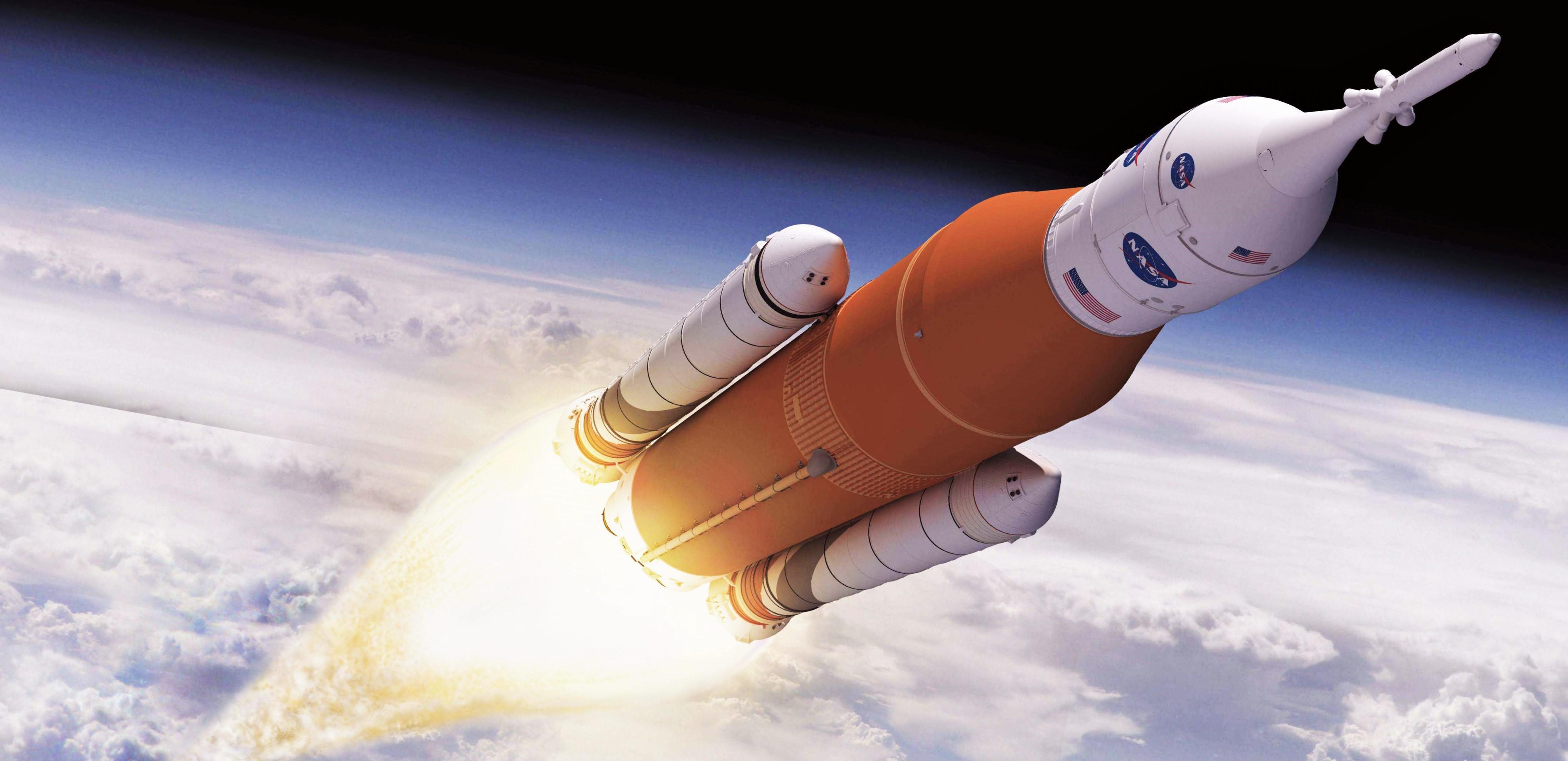 SLS Block 1 in flight (NASA) crop