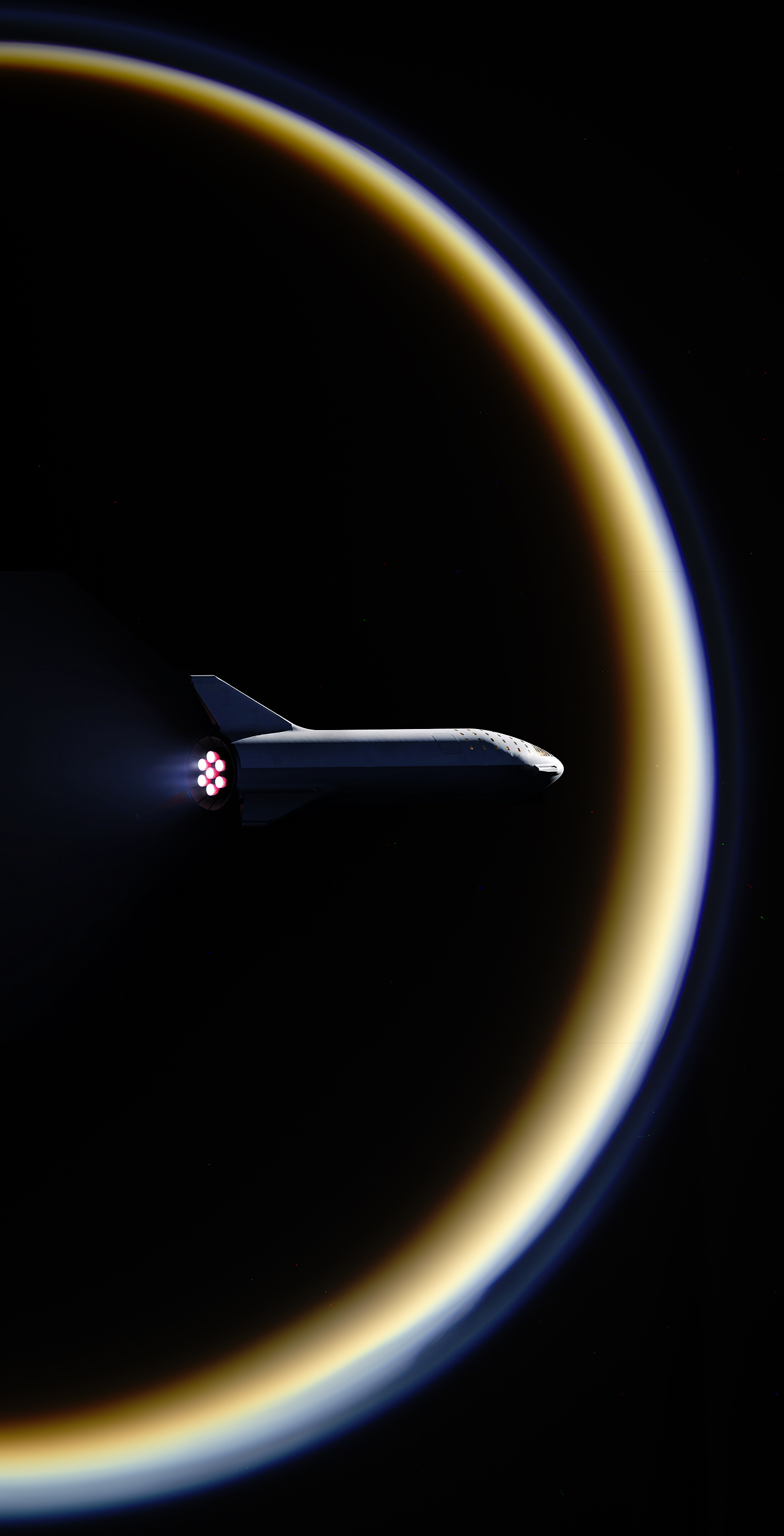 Starship Saturn Titan burn (NASA – SpaceX) 1