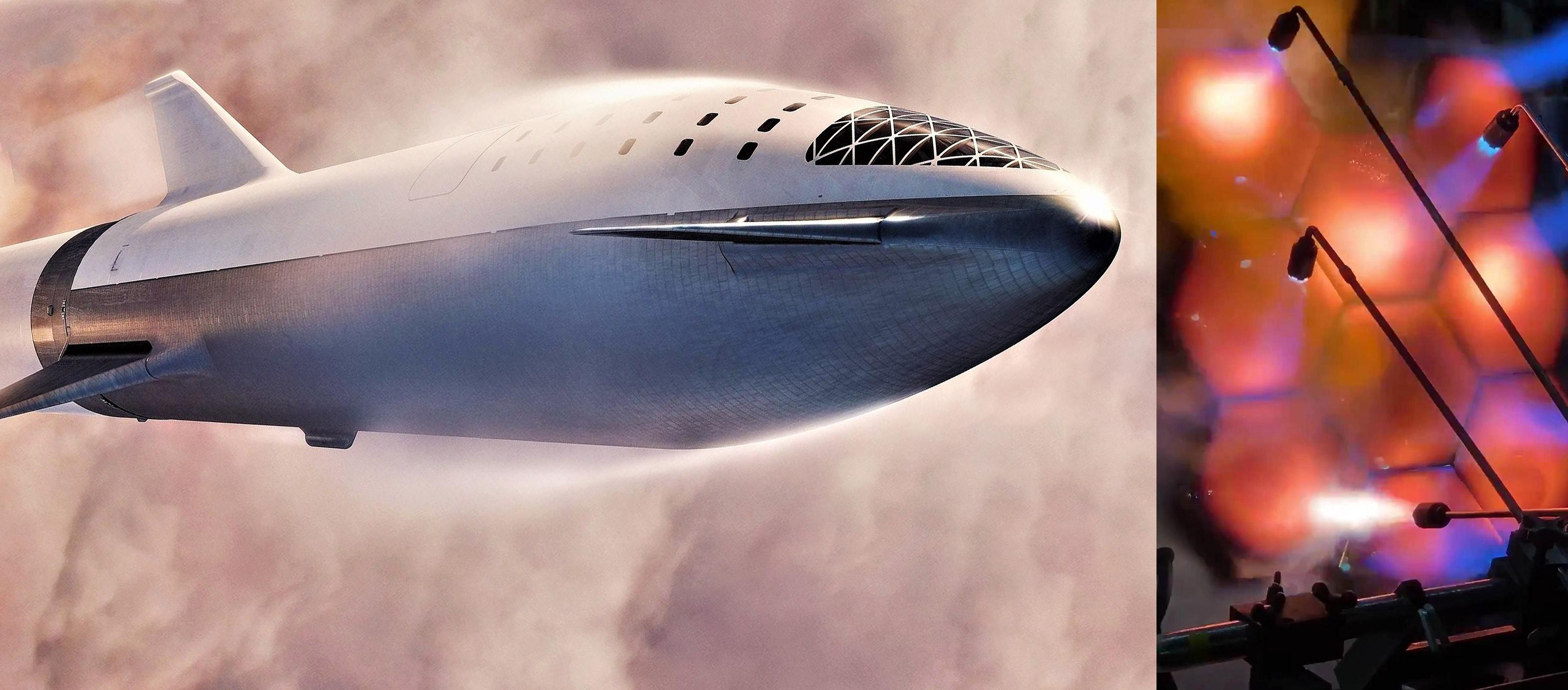 Starship hexagonal heat shield tile testing + BFS 031719 (Elon Musk – SpaceX) 1