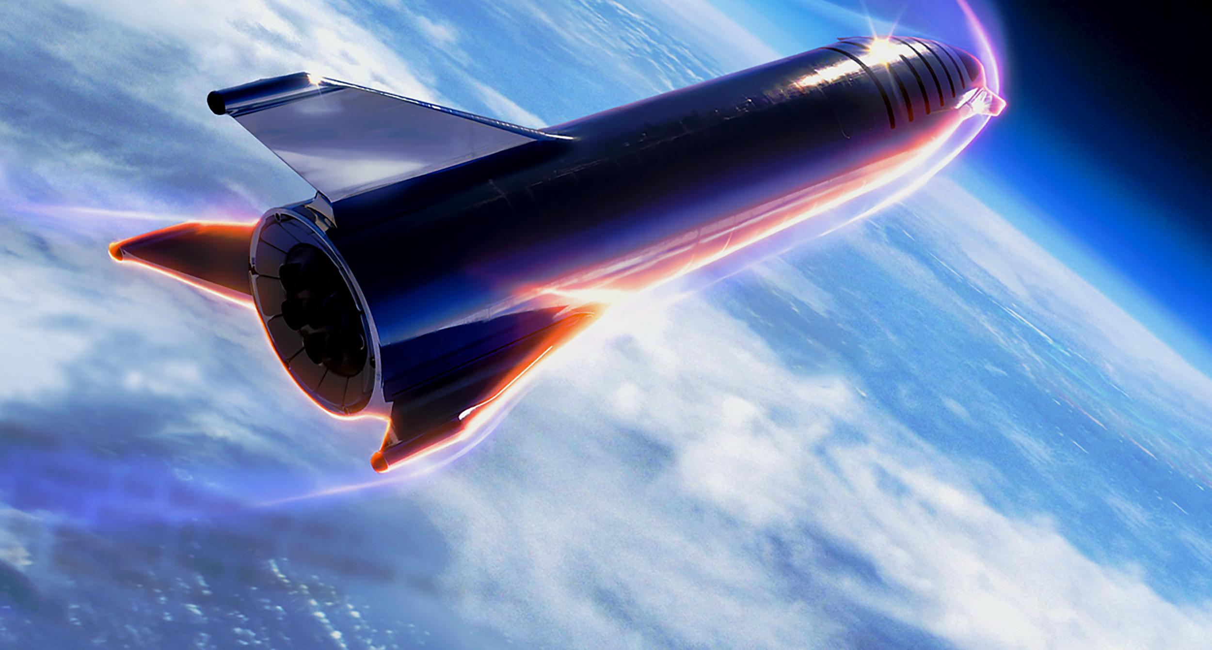 Starship reentry Earth SpaceX) 1 crop 5 edit
