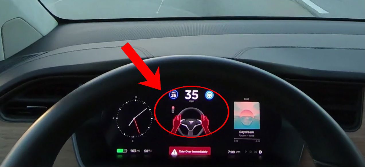 First Look At Tesla S Autosteer Stop Light Warning For