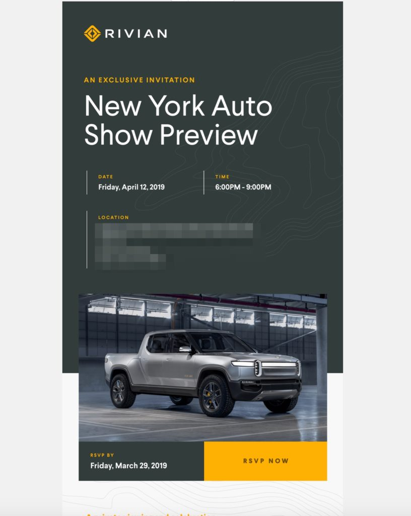 Rivian set for New York Auto Show debut in April, invites buyers to private event