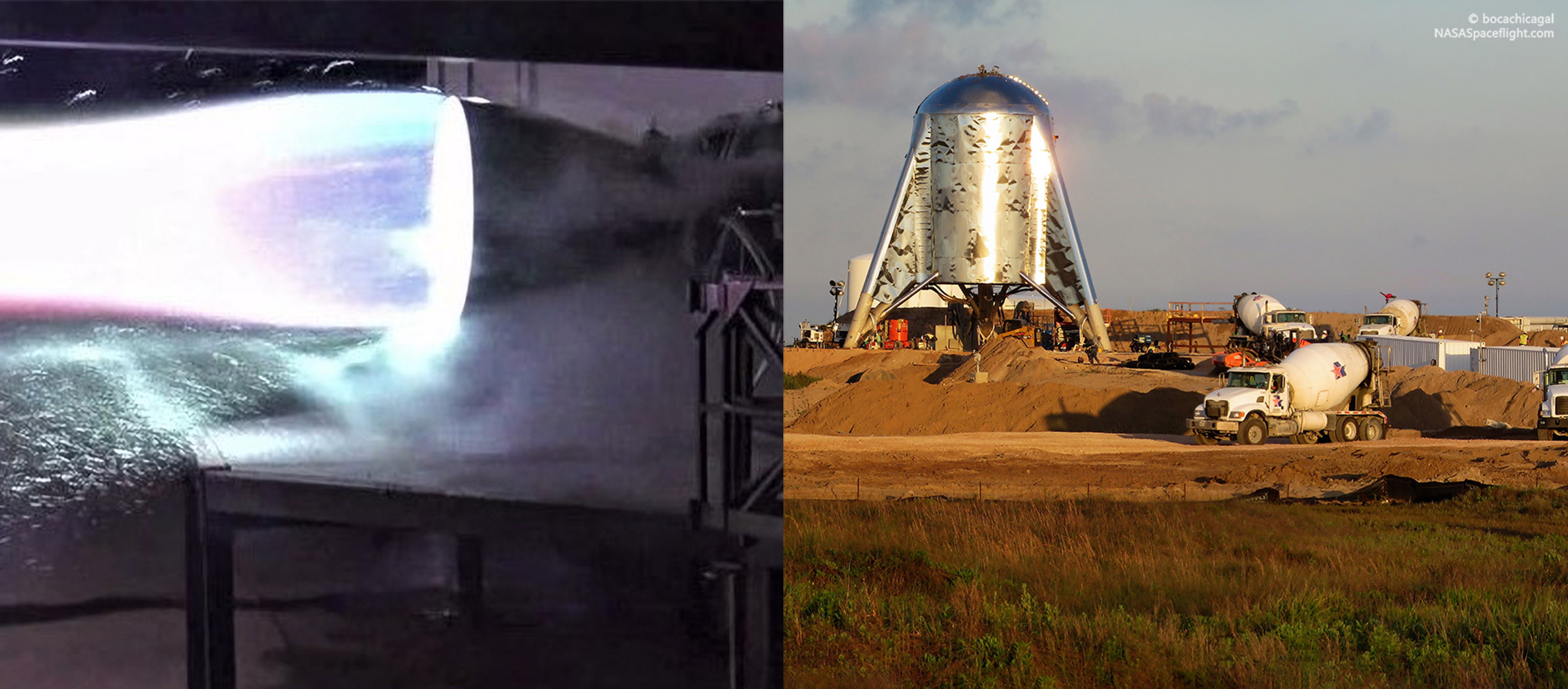 Boca Chica Starhopper pad and Raptor 042719 (SpaceX & bocachicagal) 1