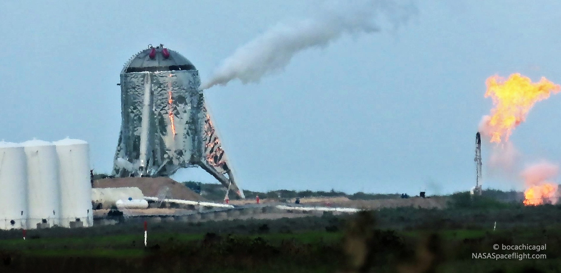 Boca Chica Starhopper testing 033019 (NASASpaceflight – bocachicagal) 2 edit