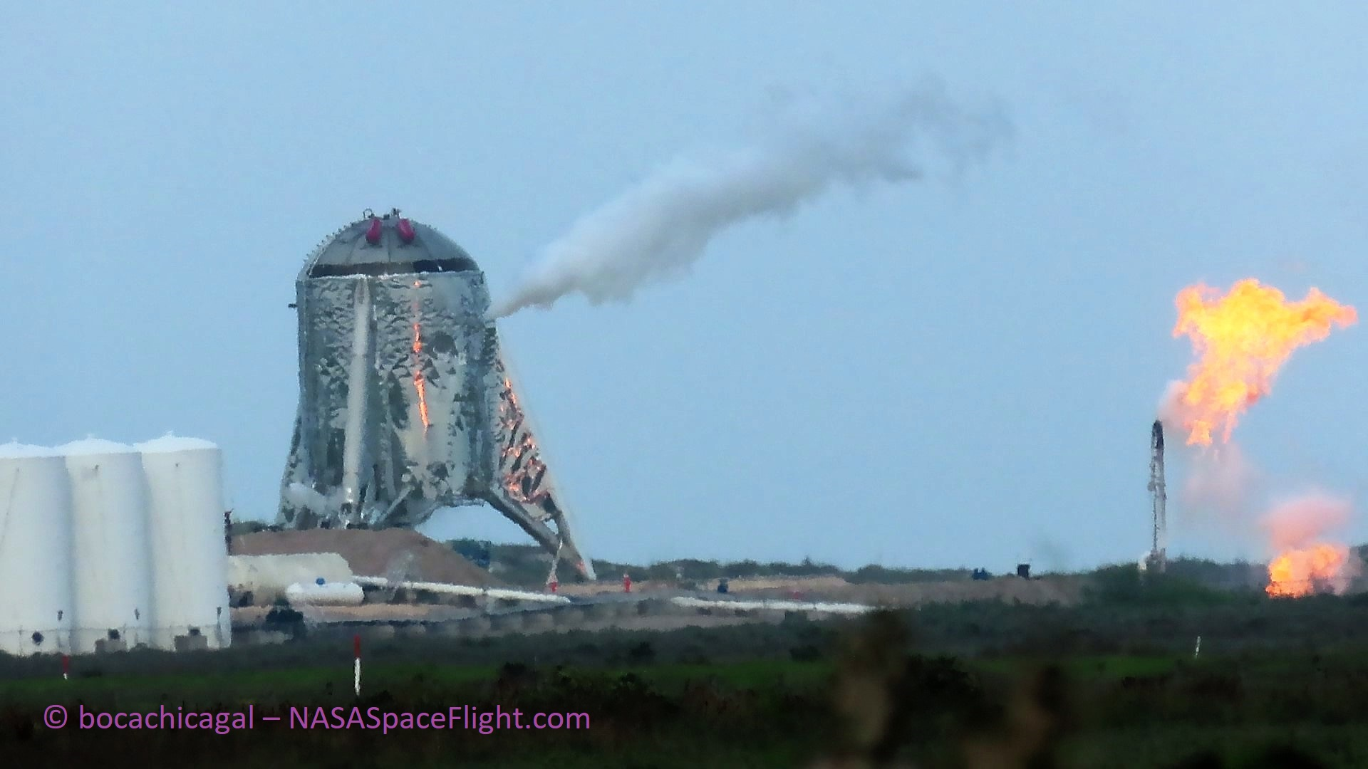 Boca Chica Starhopper testing 033019 (NASASpaceflight – bocachicagal) 2