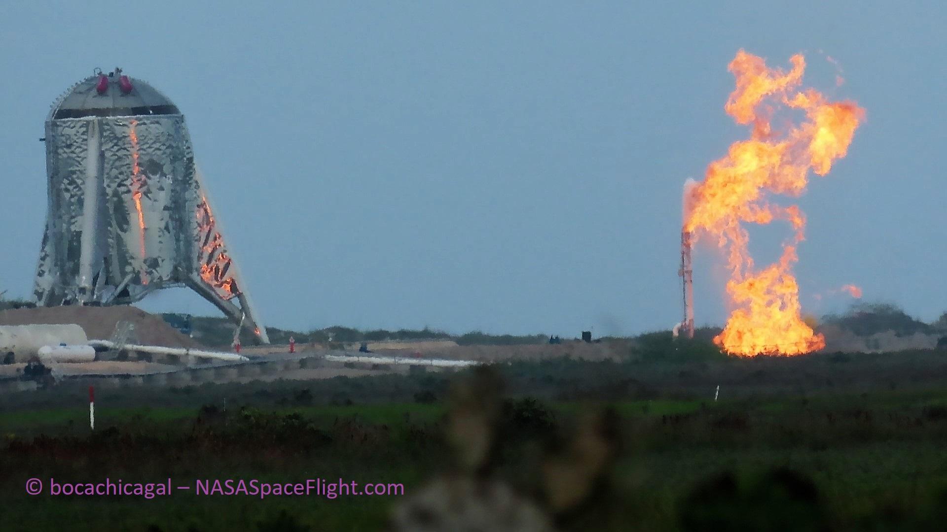 Boca Chica Starhopper testing 033019 (NASASpaceflight – bocachicagal) 3