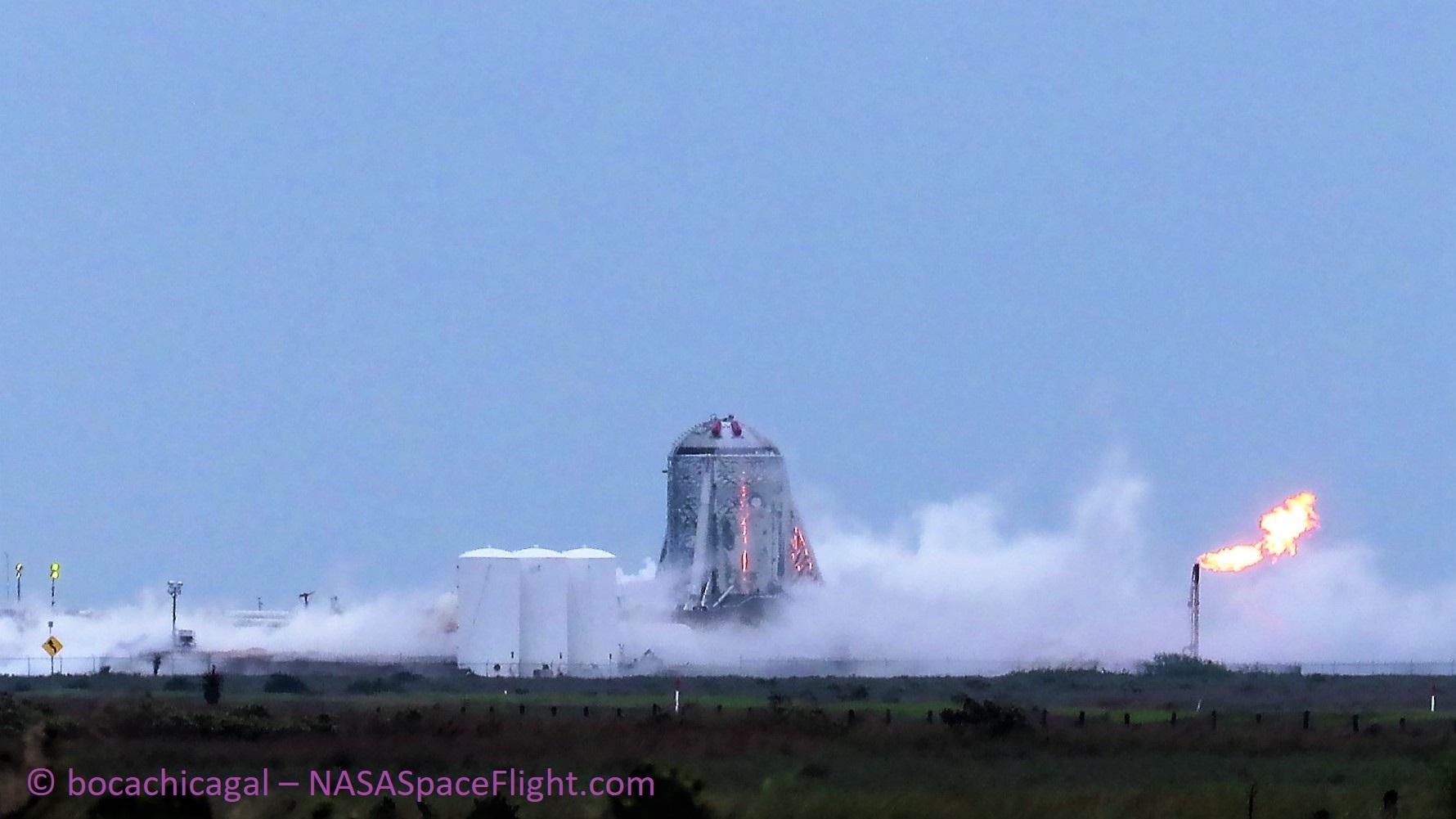 Boca Chica Starhopper testing 040119 (NASASpaceflight – bocachicagal) 2