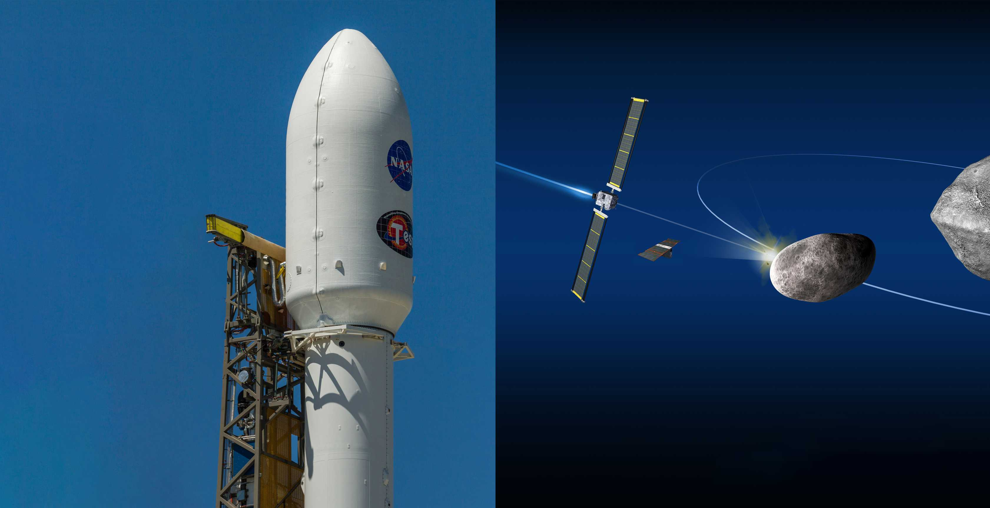 DART mission + SpaceX Falcon 9 TESS (NASA – Tom Cross) 1 (c)