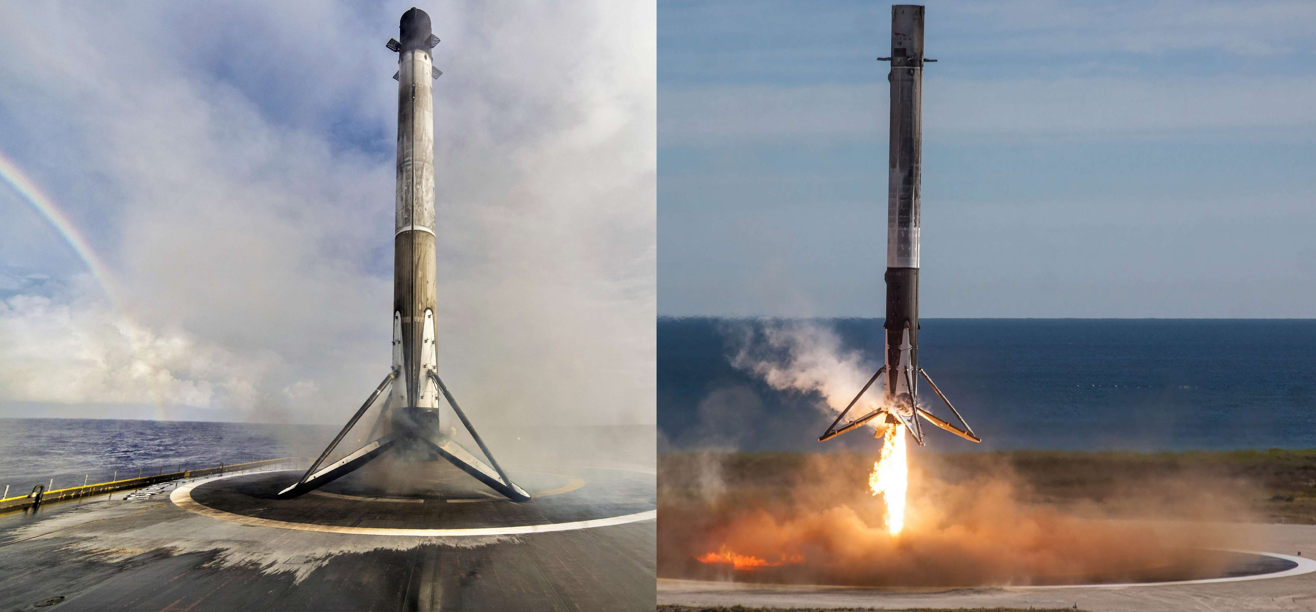 Falcon 9 by land and by sea CRS-13 Es'hail-2 B1047 (SpaceX) 1 (c)
