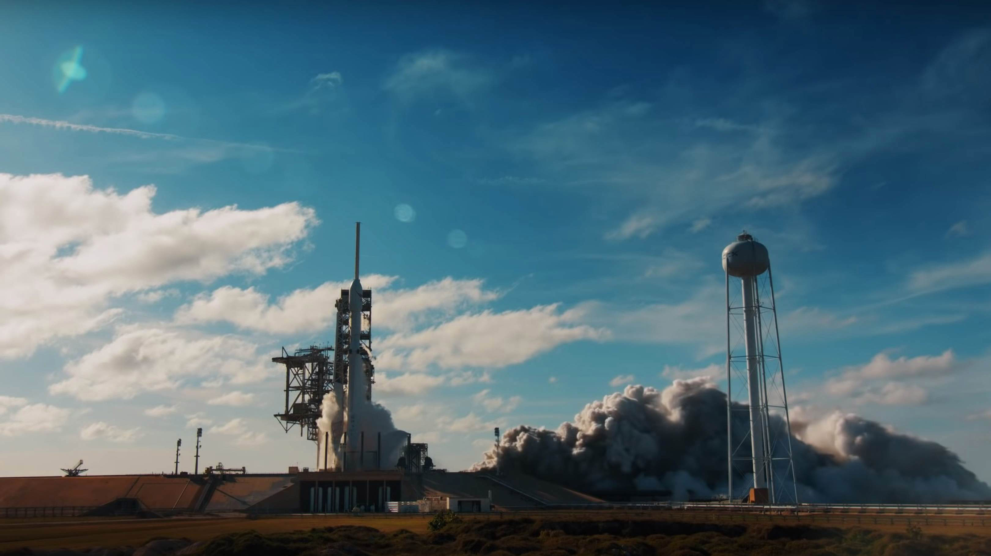 Falcon Heavy Flight 1 ignition (SpaceX) 1