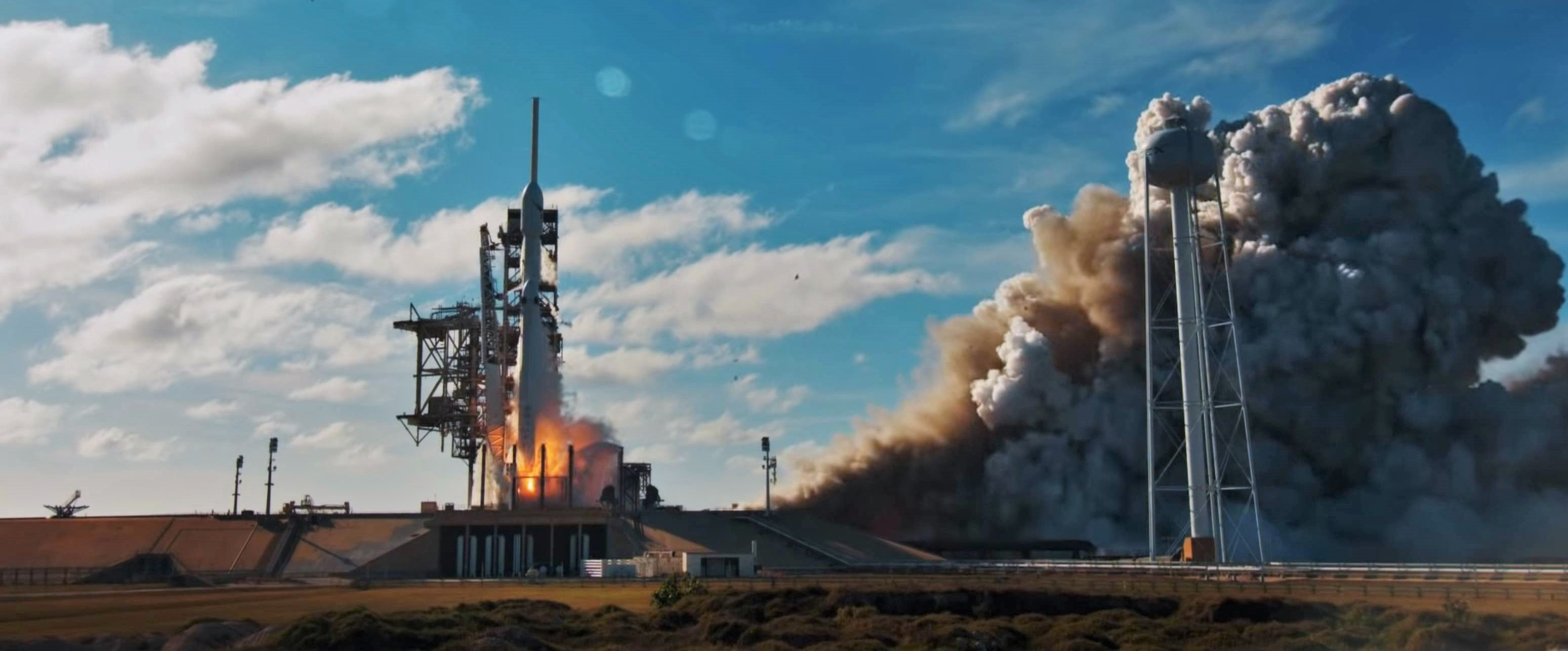Falcon Heavy Flight 1 liftoff (SpaceX) 1 edit