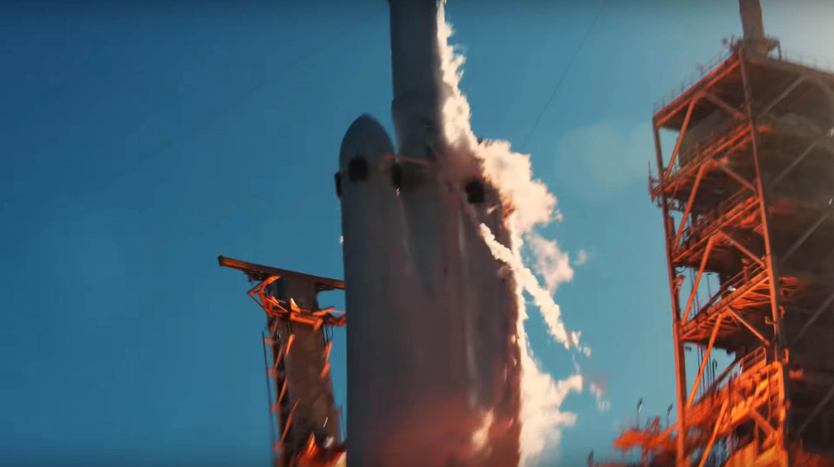 Falcon Heavy Flight 1 liftoff (SpaceX) 4