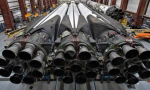 The first Block 5 version of Falcon Heavy prepares for its launch debut.
