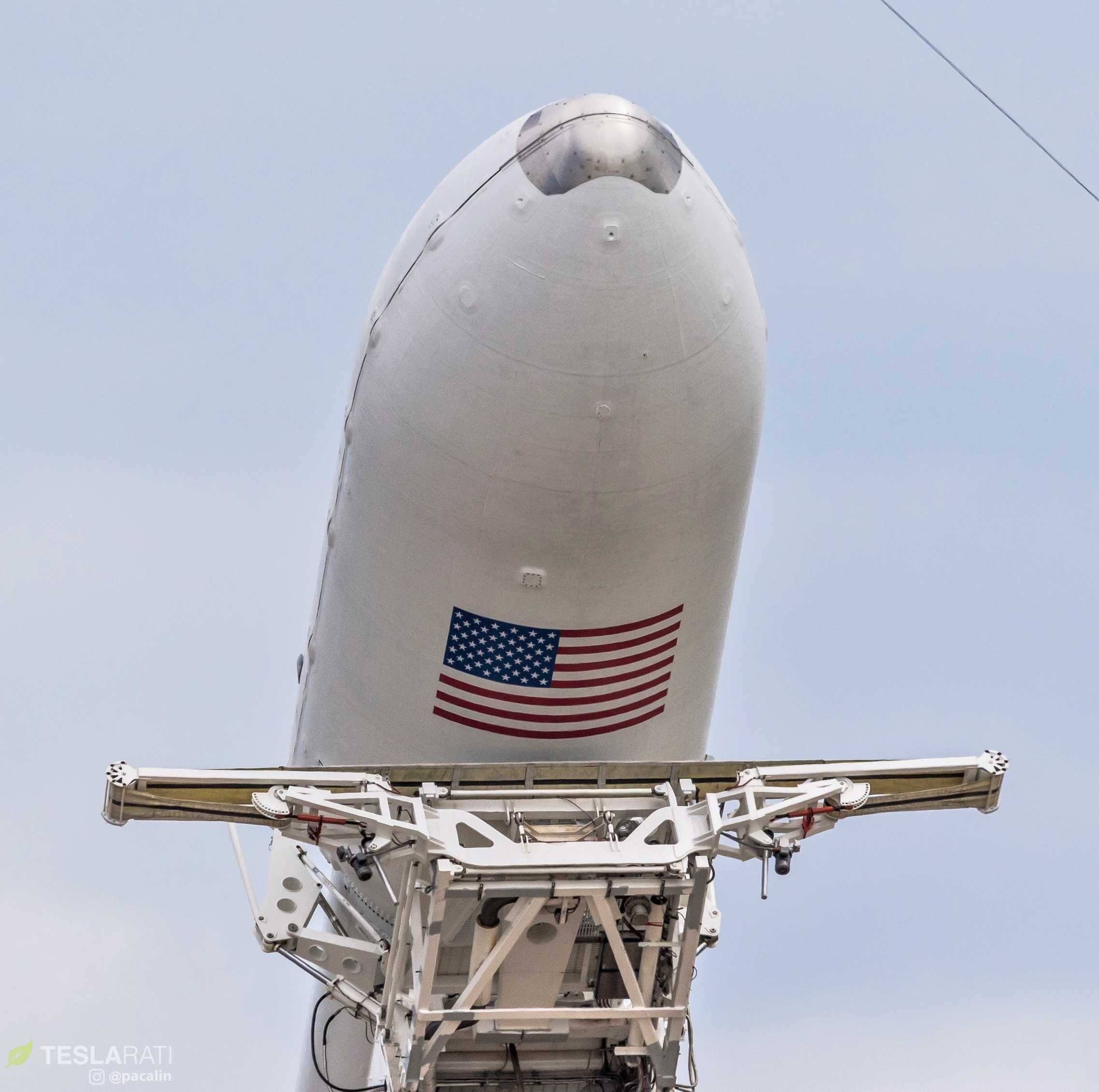 Falcon Heavy Flight 2 payload fairing detail (Pauline Acalin) 1 (c)