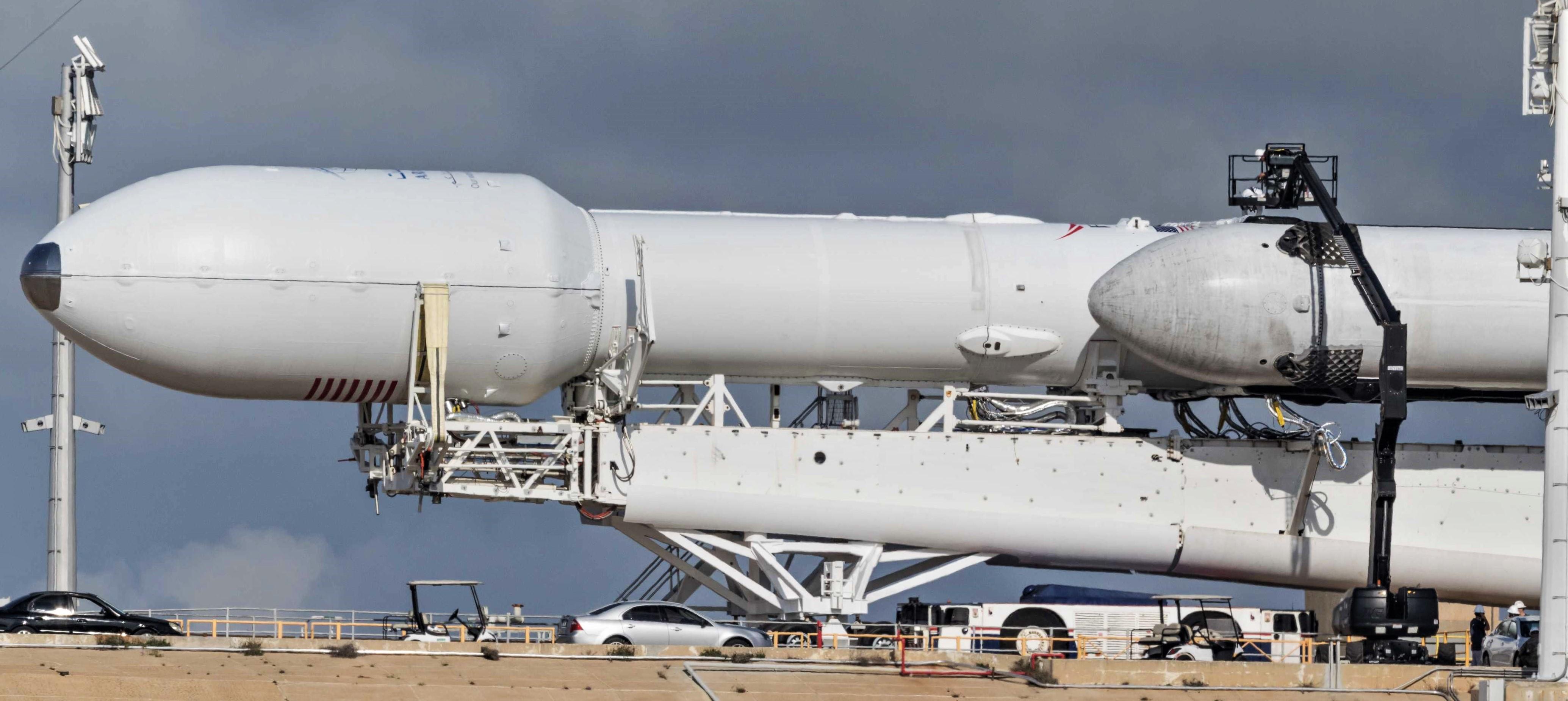 Falcon Heavy Flight 2 prelaunch 39A (Pauline Acalin) pano 7 edit
