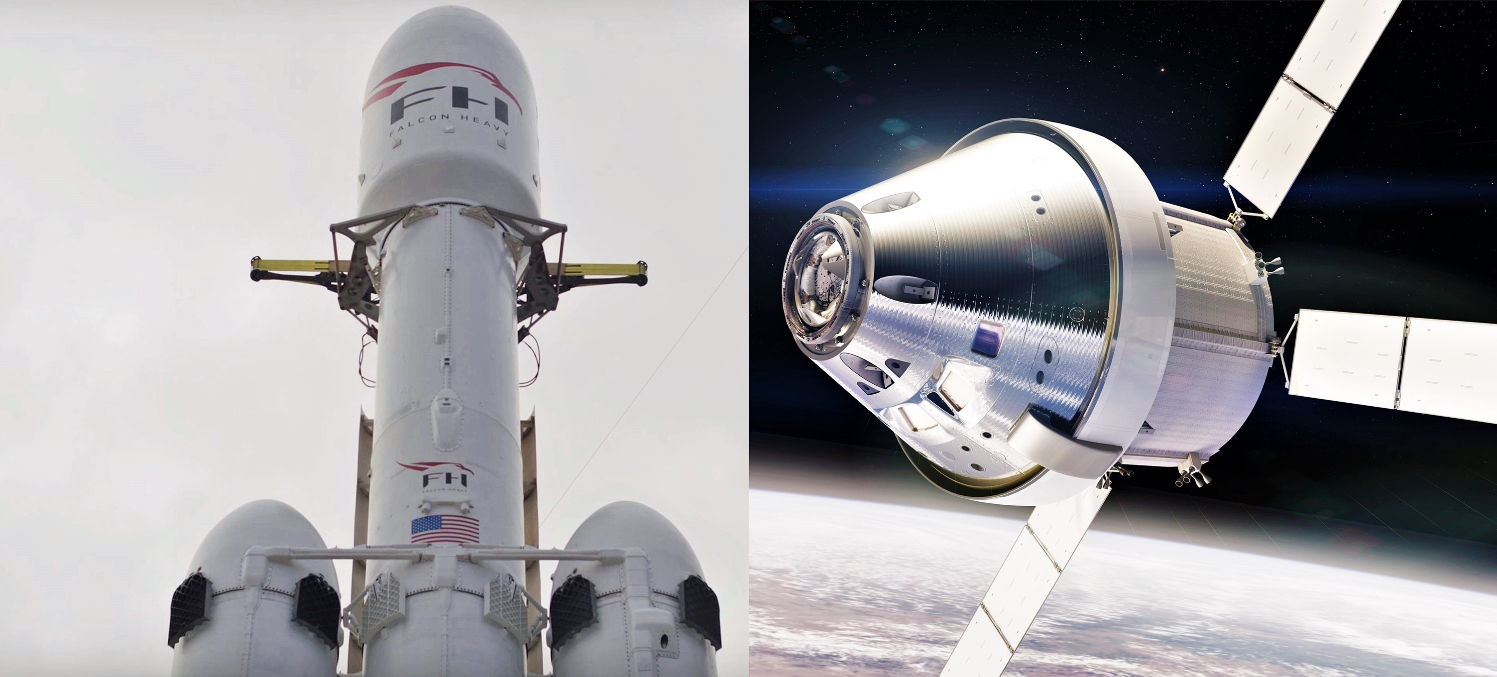 Falcon Heavy and Orion (NASA – SpaceX) 1