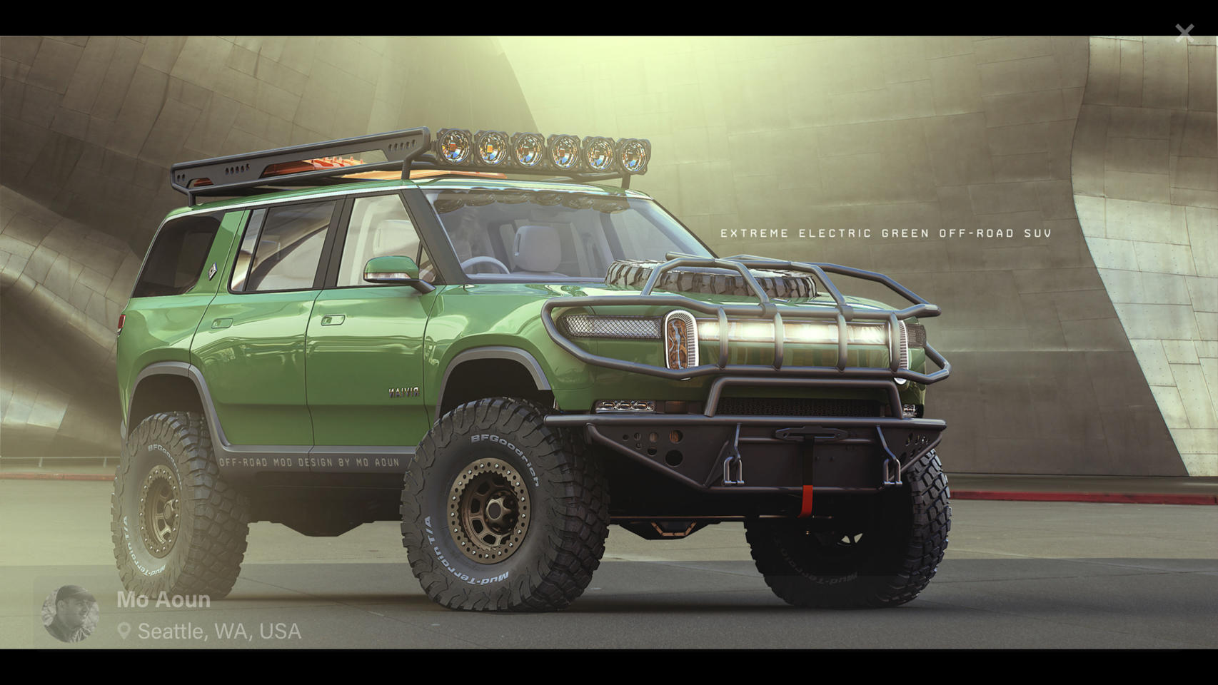 Rivian Community Imagines R1s Suv In Extreme Off Road All Electric Adventure