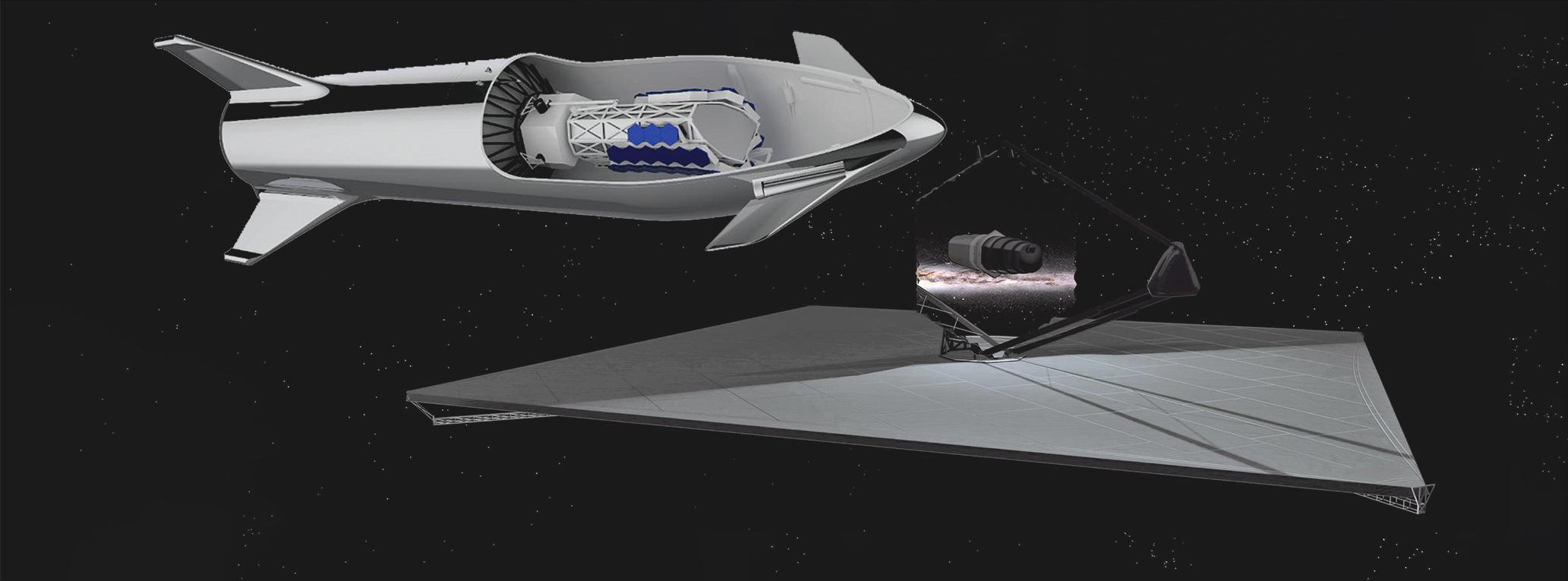 Starship NASA LUVOIR A and B space telescopes (SpaceX – NASA) 1